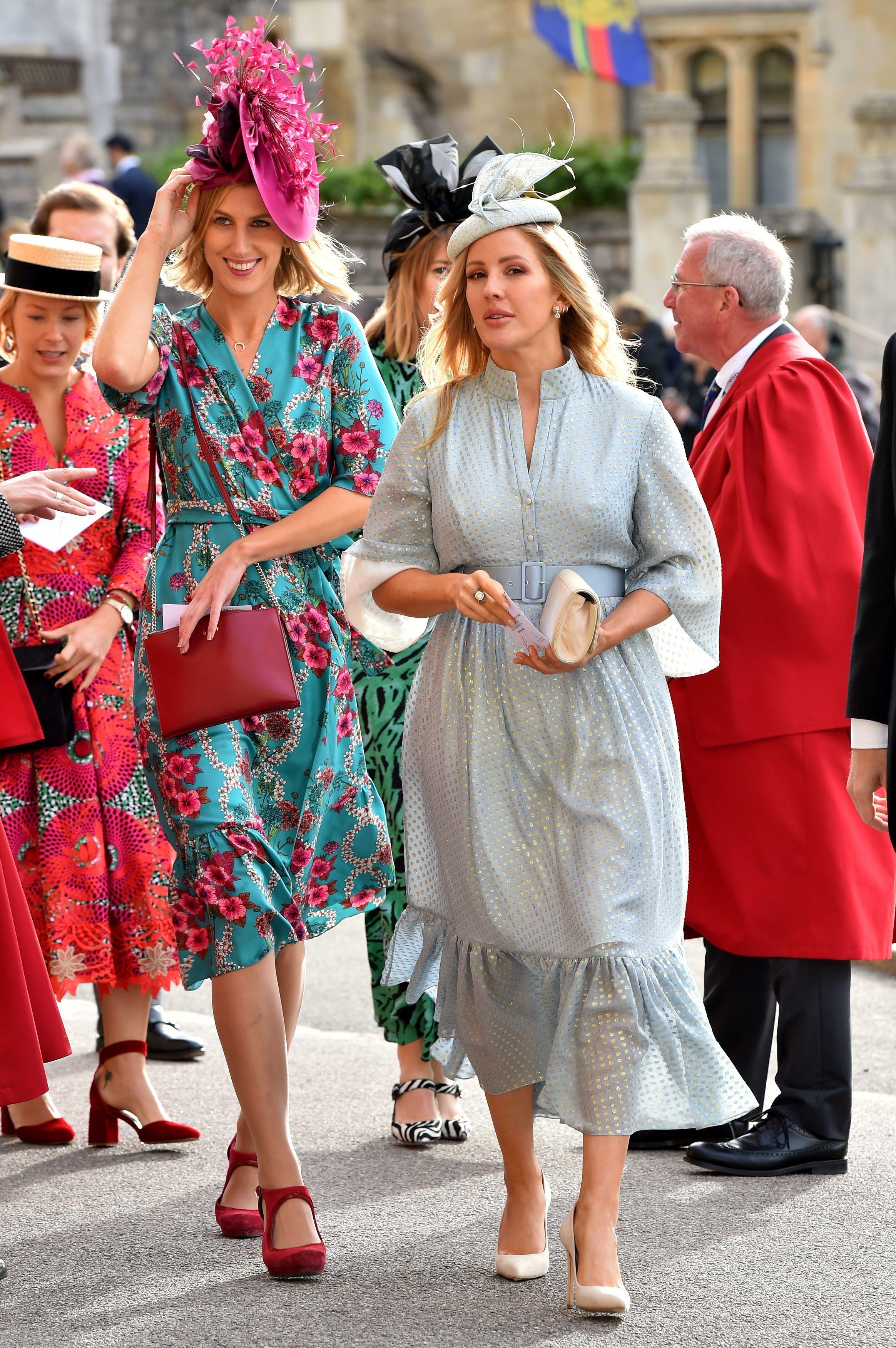 Ellie Goulding arrives for the wedding of Princess Eugenie and Jack Brooksbank at St George's Chapel at  Windsor Castle on Oct. 12, 2018.