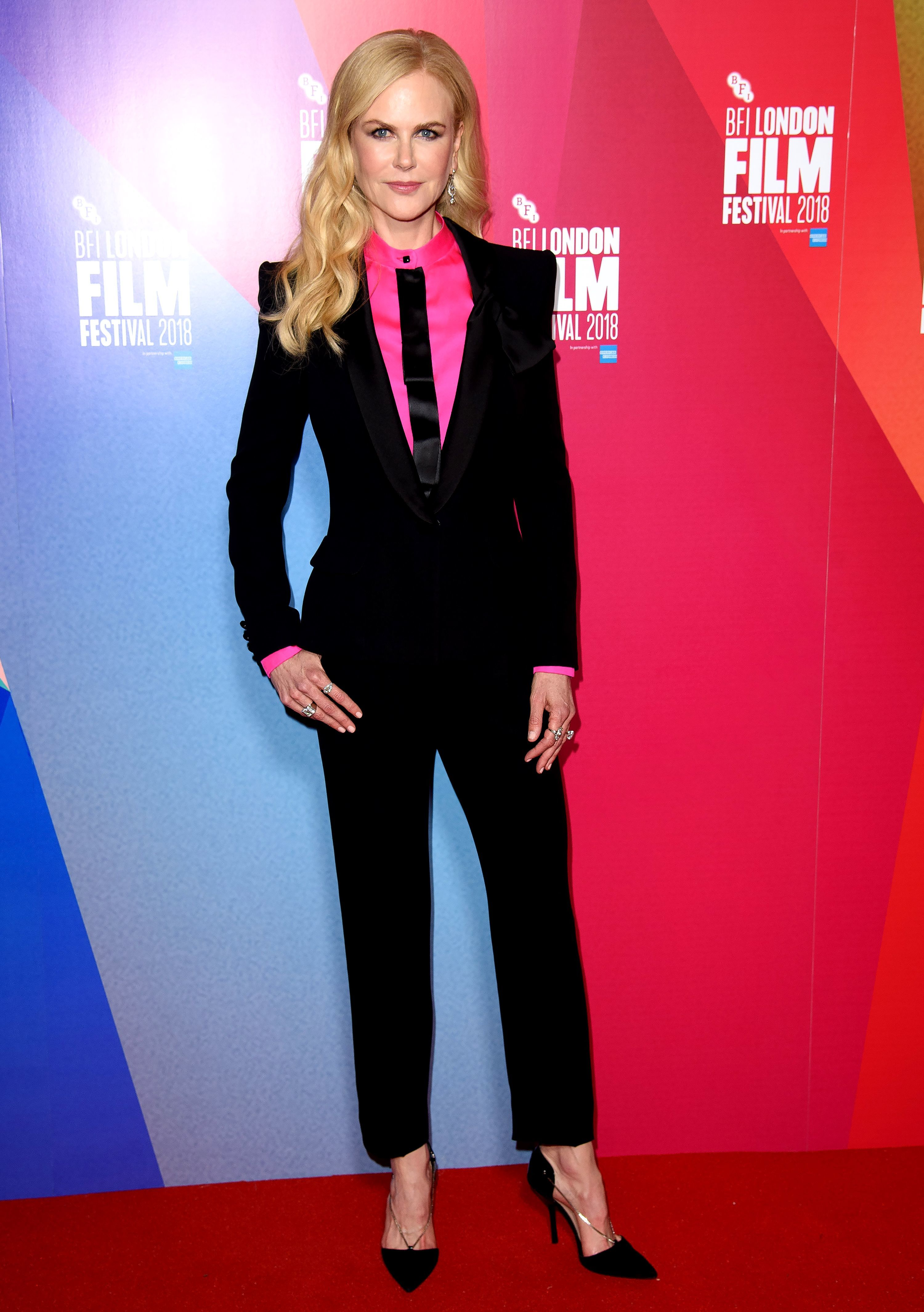 """Nicole Kidman attends the """"Destroyer"""" screening at the BFI London Film Festival on Oct. 14, 2018."""