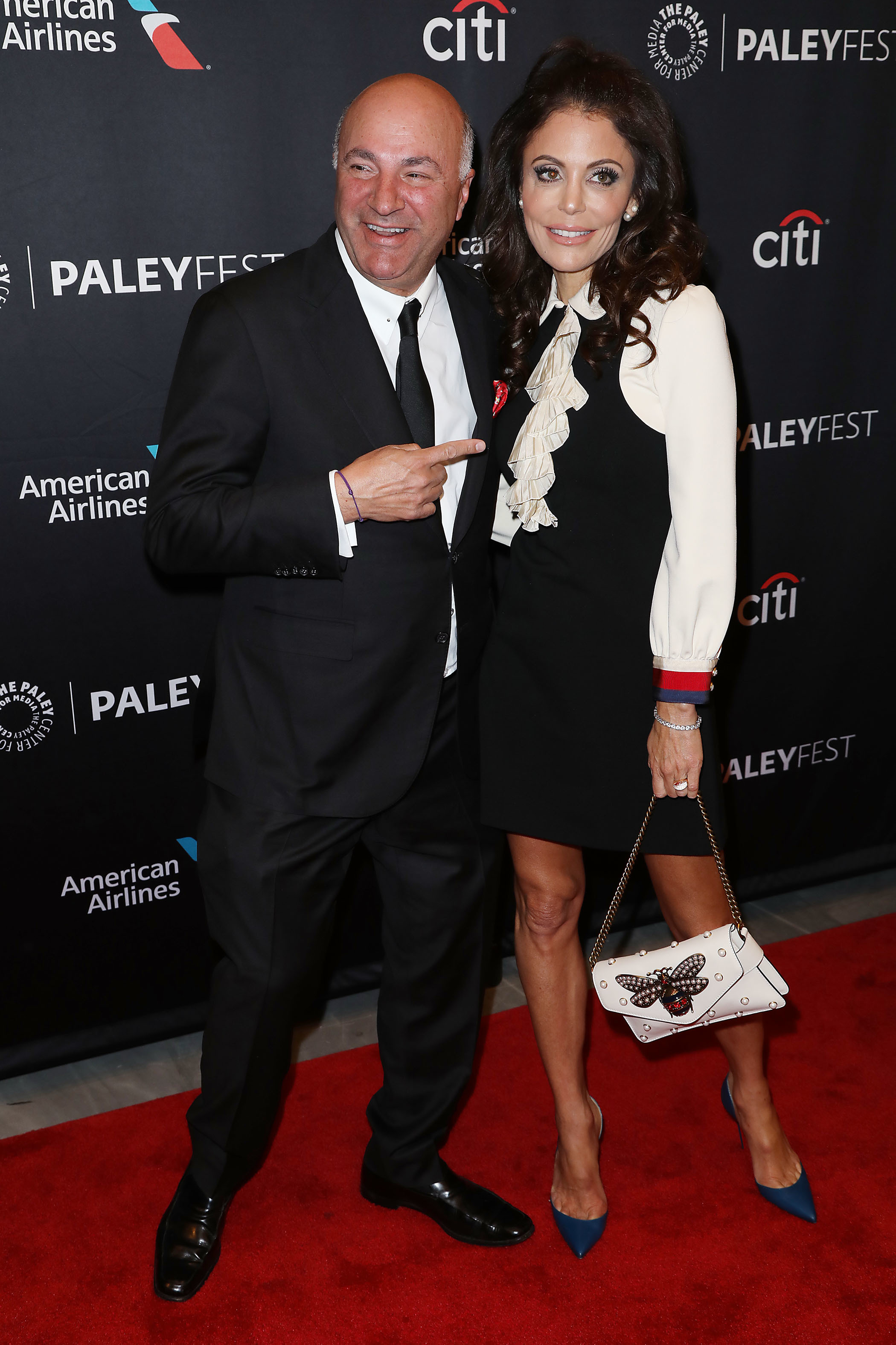"""Kevin O'Leary and Bethenny Frankel attend the PaleyFest panel for """"Shark Tank"""" in New York City on Oct. 14, 2018."""