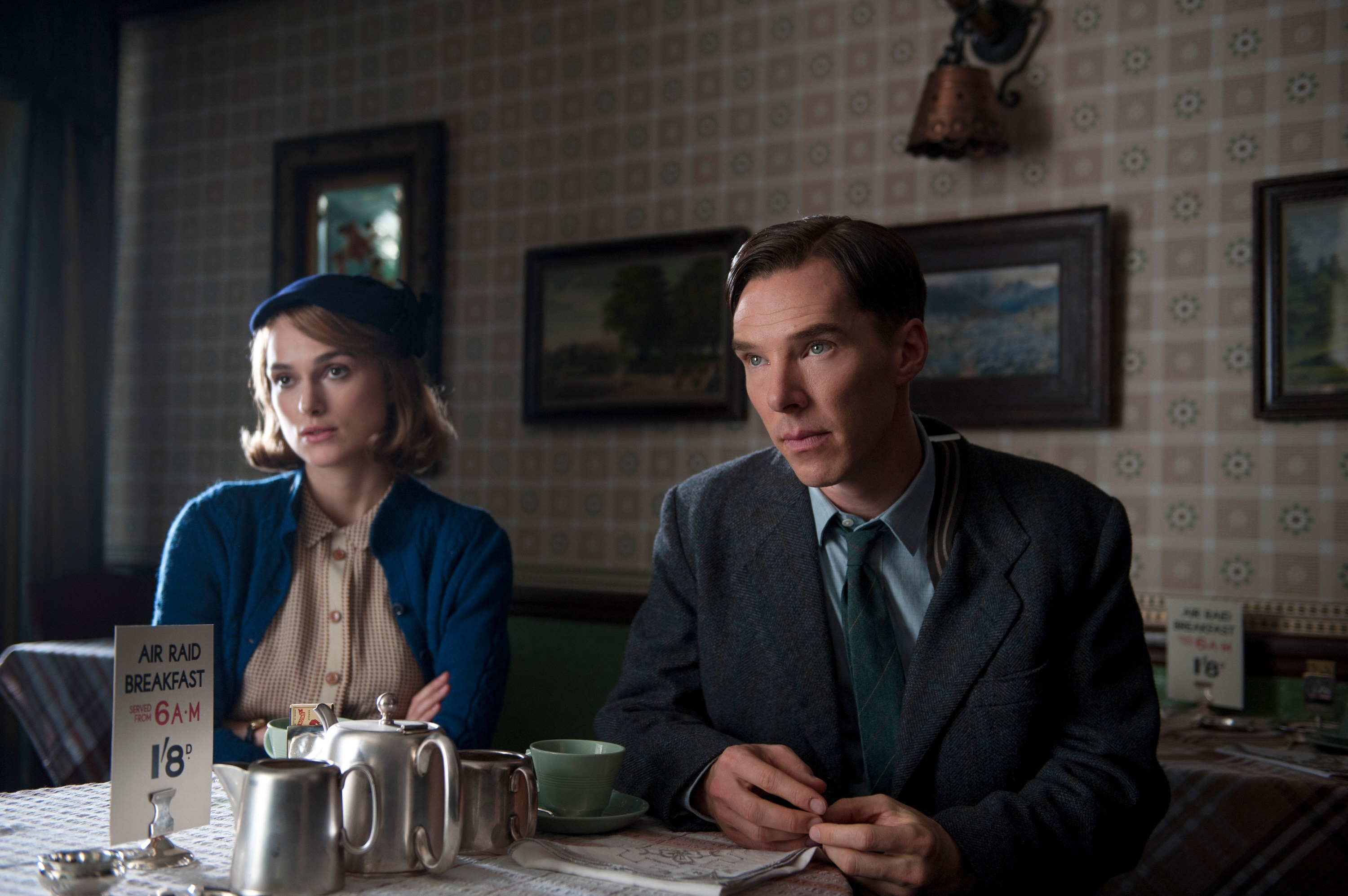 """Keira Knightley and Benedict Cumberbatch star in the 2014 biopic """"The Imitation Game."""""""