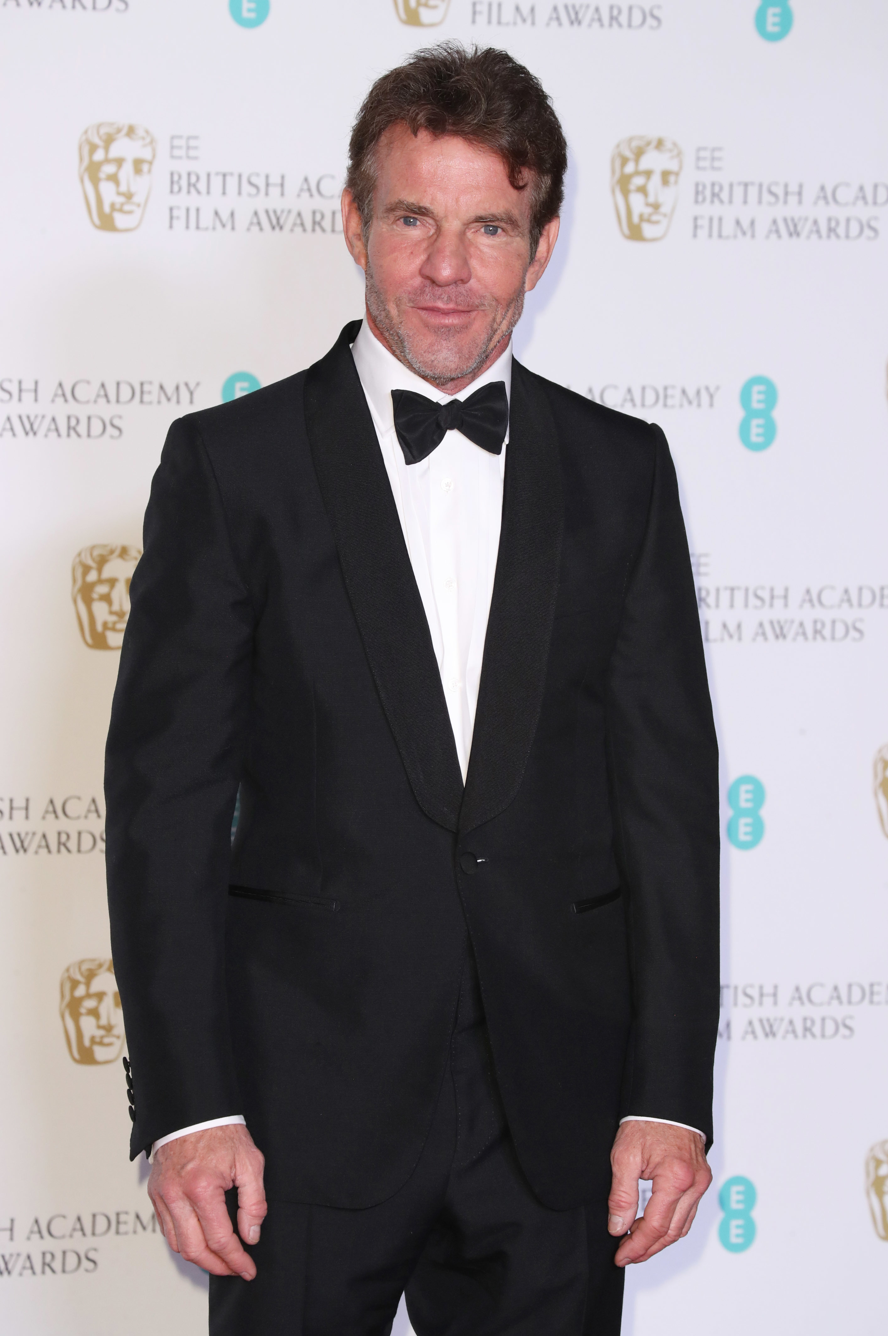 Dennis Quaid attends the 71st British Academy Film Awards in London on Feb. 18, 2018.