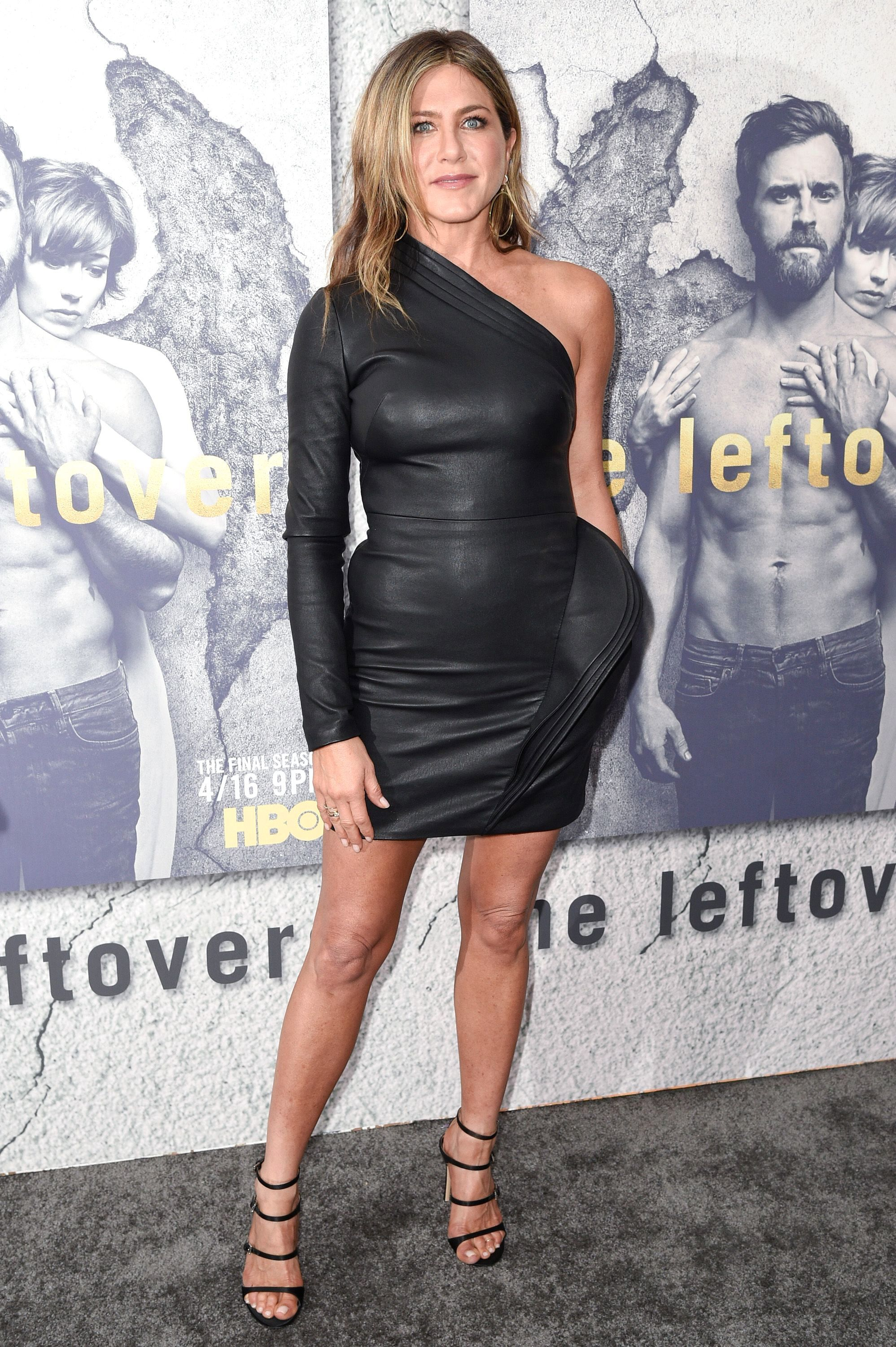 """Jennifer Aniston attends the Season 3 premiere of """"The Leftovers"""" in Los Angeles on April 4, 2017."""