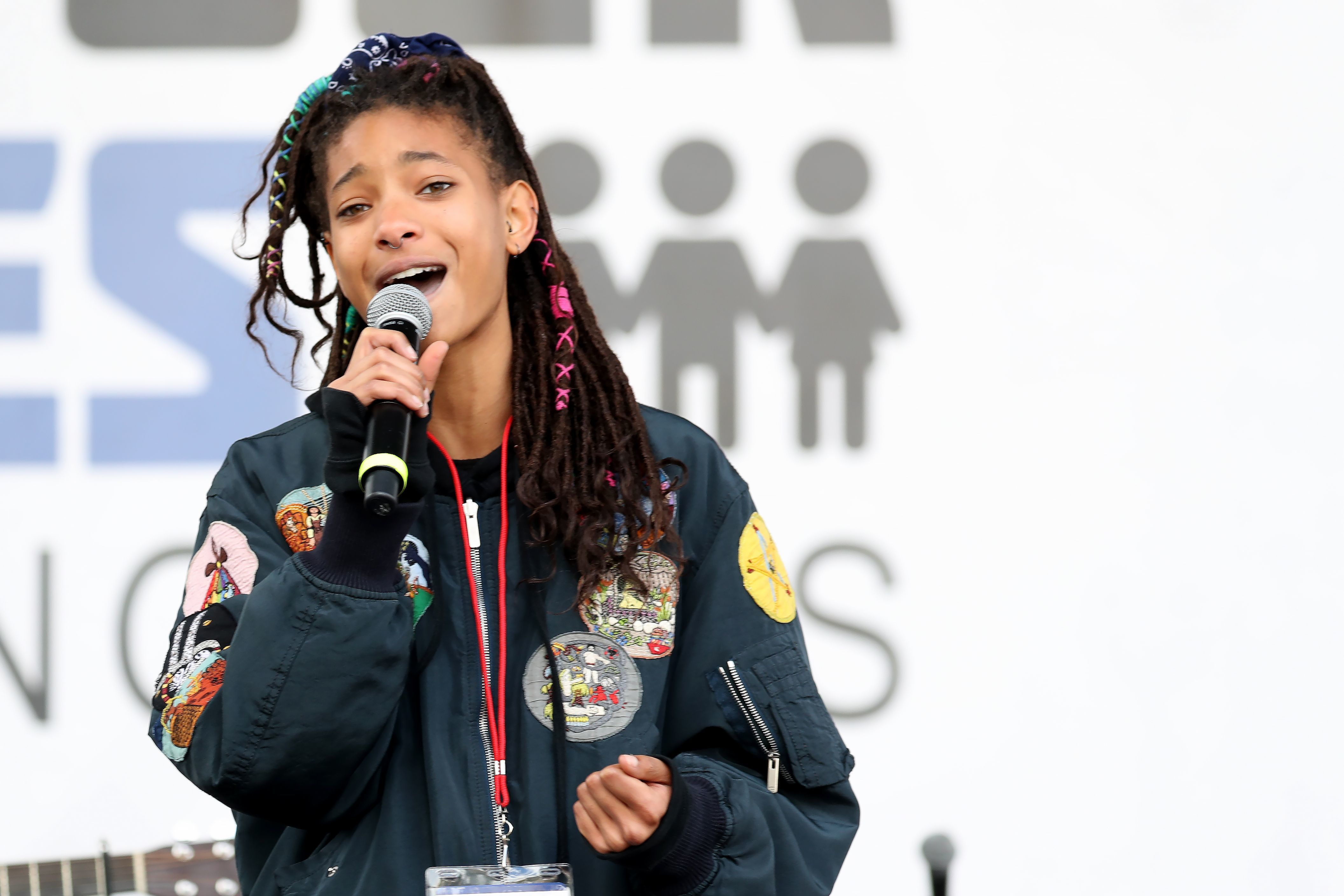 Willow Smith speaks at the March for our Lives Los Angeles rally on March 24, 2018