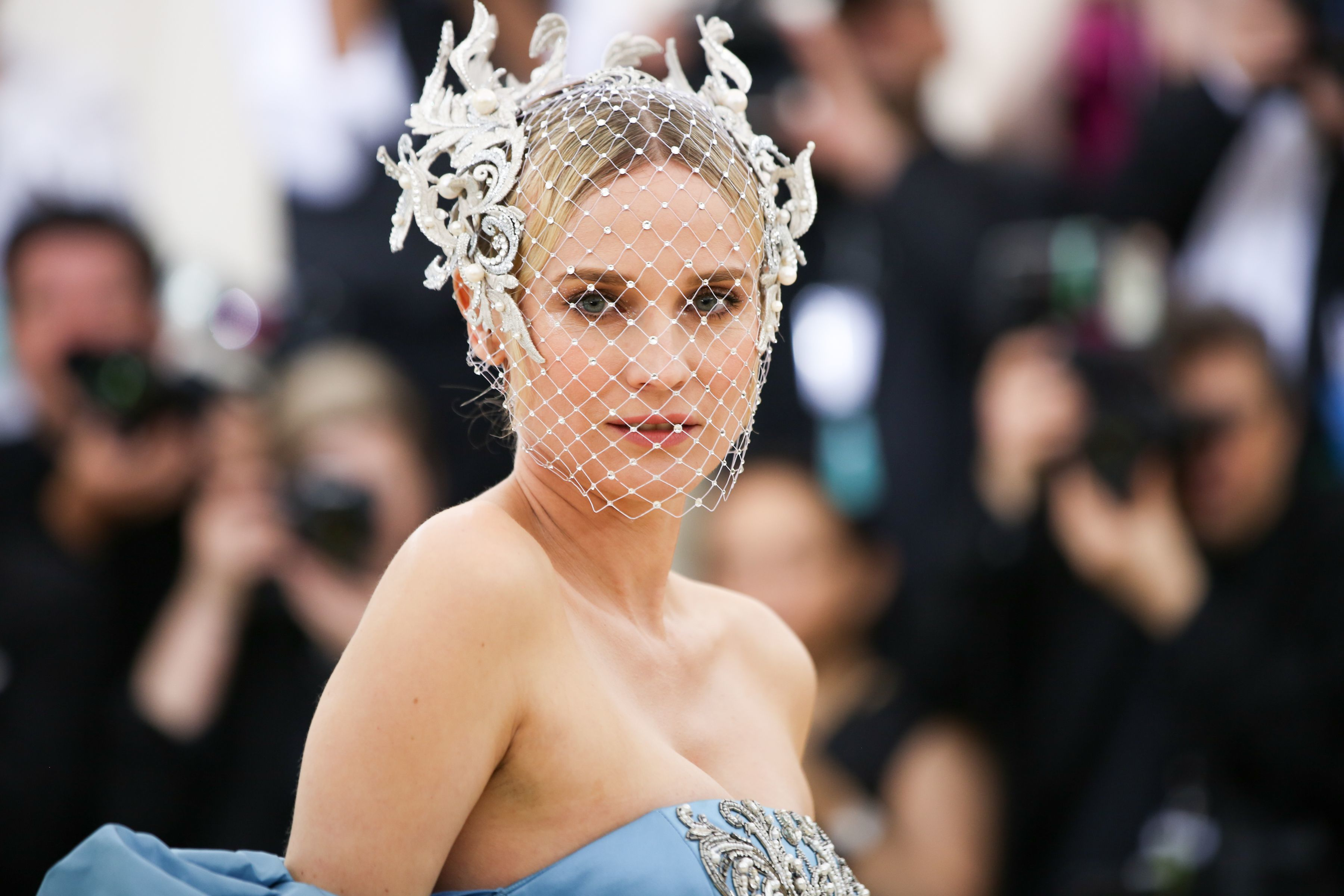 Diane Kruger attends the Heavenly Bodies: Fashion & The Catholic Imagination Costume Institute Gala at The Metropolitan Museum of Art in New York City on May 7, 2018.