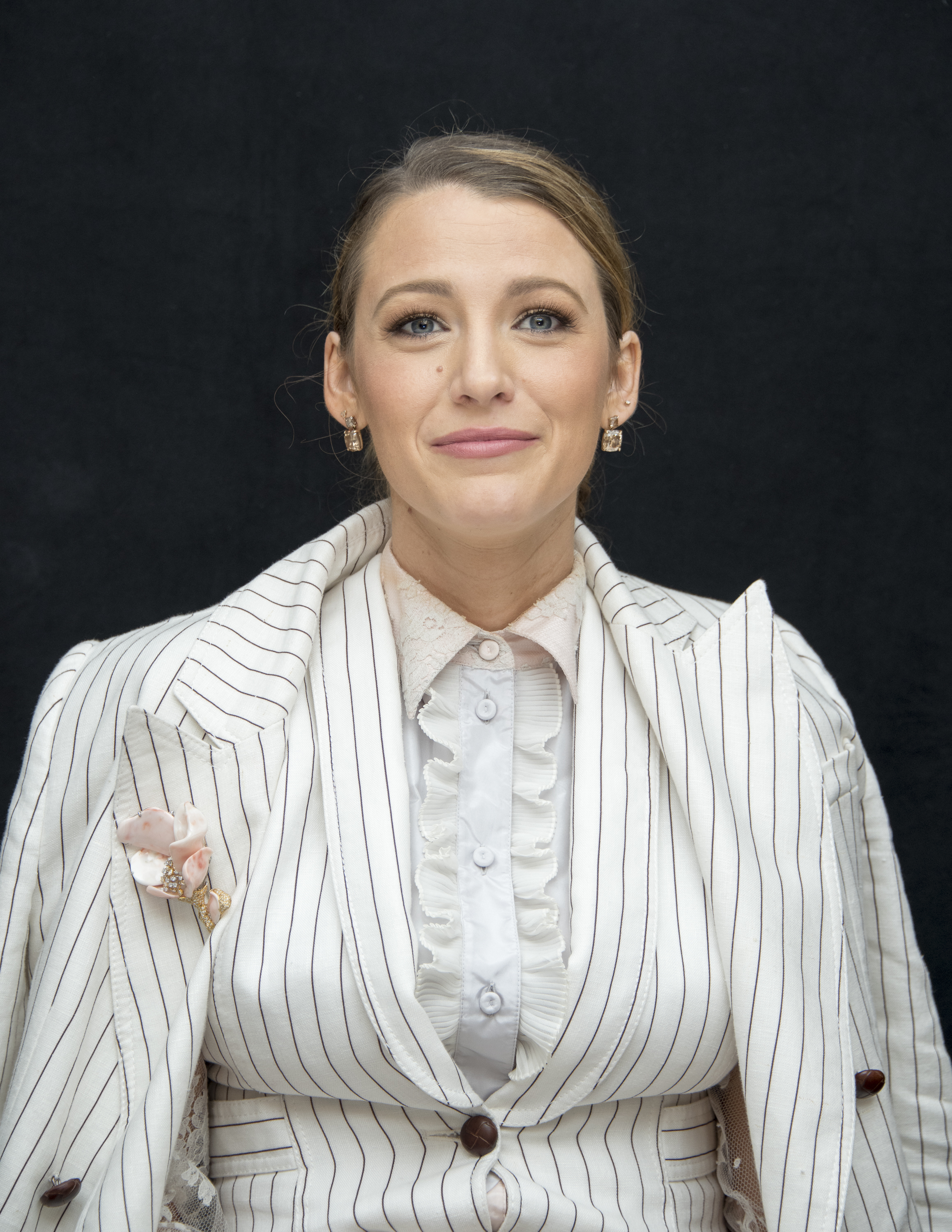 "Blake Lively at the ""A Simple Favor"" Press Conference at the Crosby Street Hotel in New York City on Aug. 19, 2018."