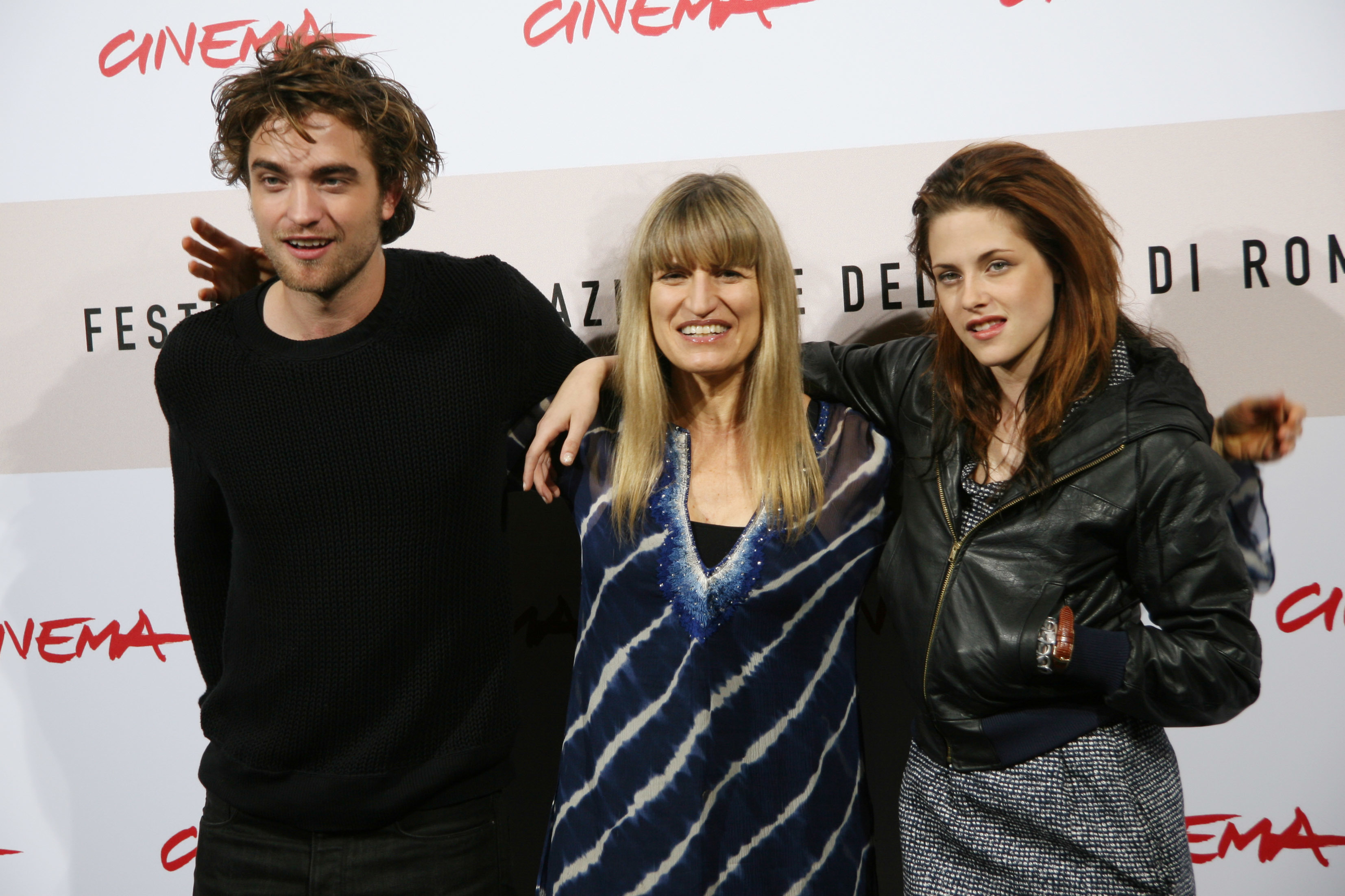 "Robert Pattinson, Catherine Hardwicke and Kristen Stewart attend a photo call for ""Twilight"" during the 3rd Rome International Film Festival in Italy on Oct. 30, 2008."