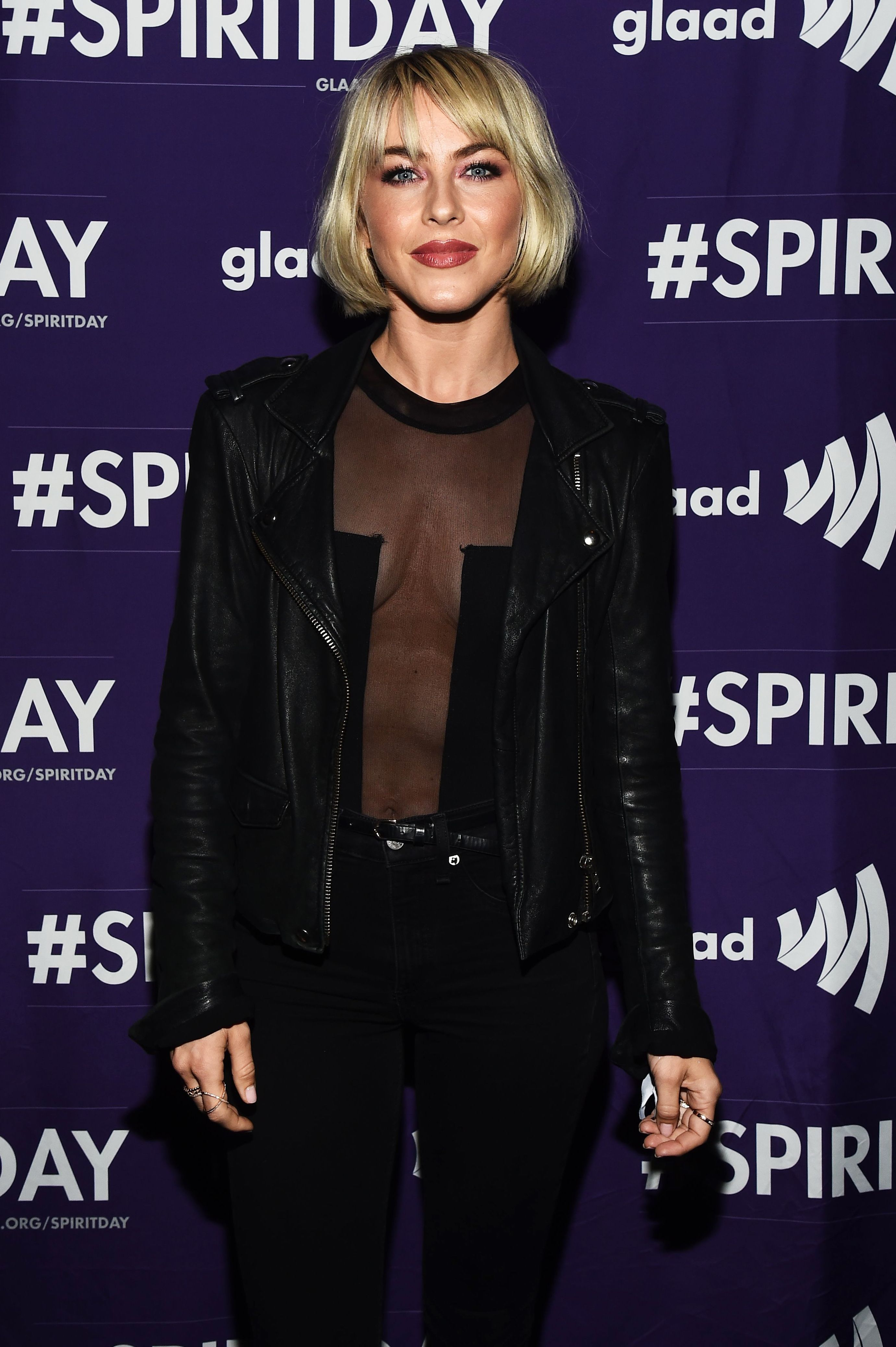 Julianne Hough attends the Beyond GLAAD Spirit Day concert in Los Angeles on Oct. 17, 2018.
