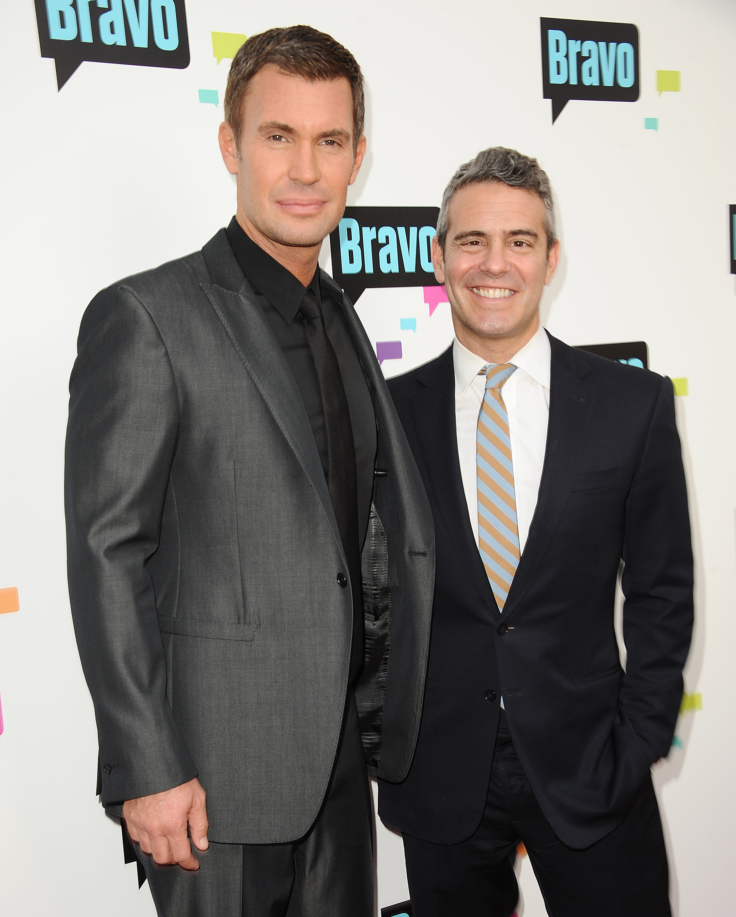 Jeff Lewis and Andy Cohen attend Bravo Media's 2013 For Your Consideration Emmy event at Leonard H. Goldenson Theatre in Los Angeles on May 22, 2013.