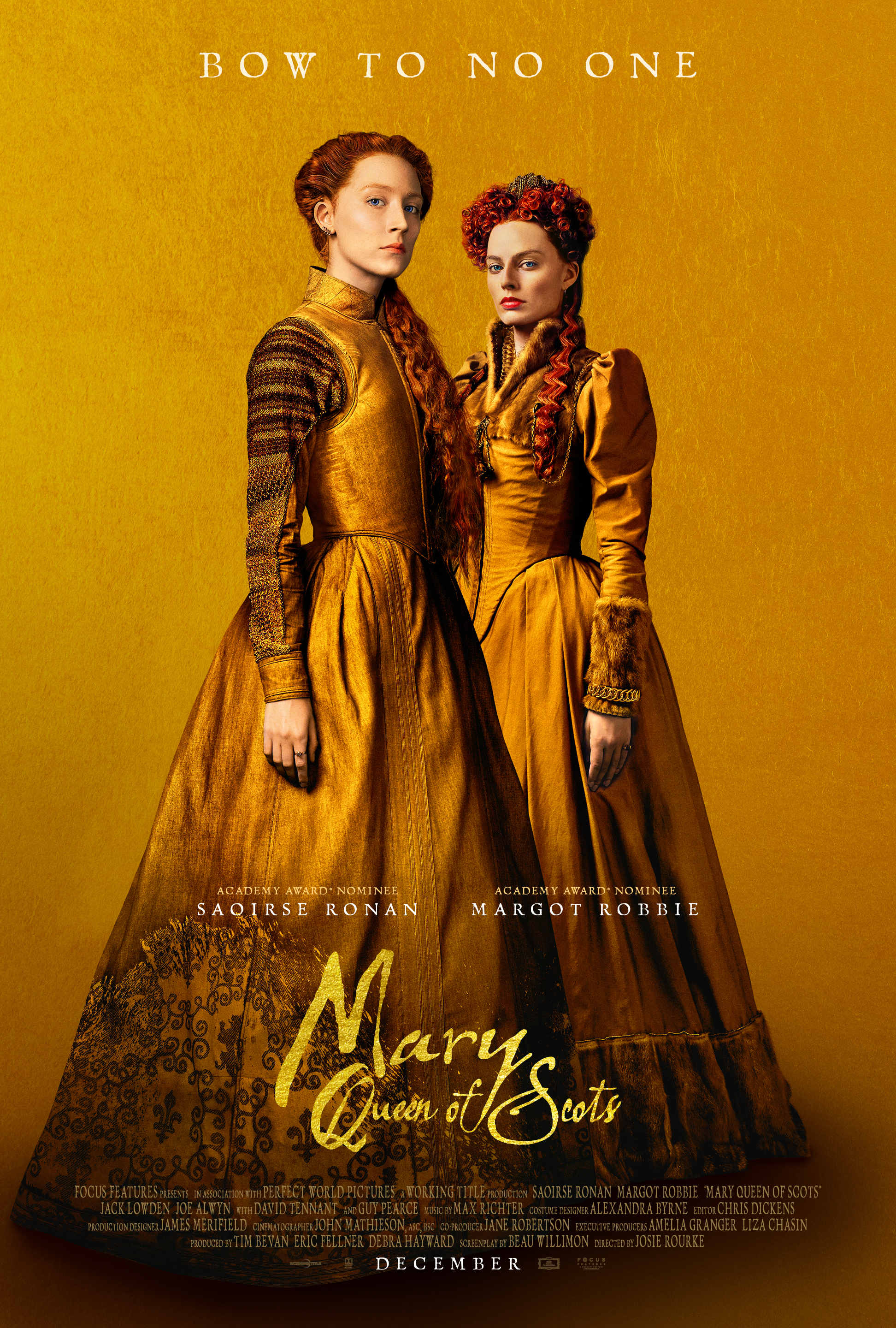"Saoirse Ronan and Margot Robbi star in 2018's ""Mary Queen of Scots."""
