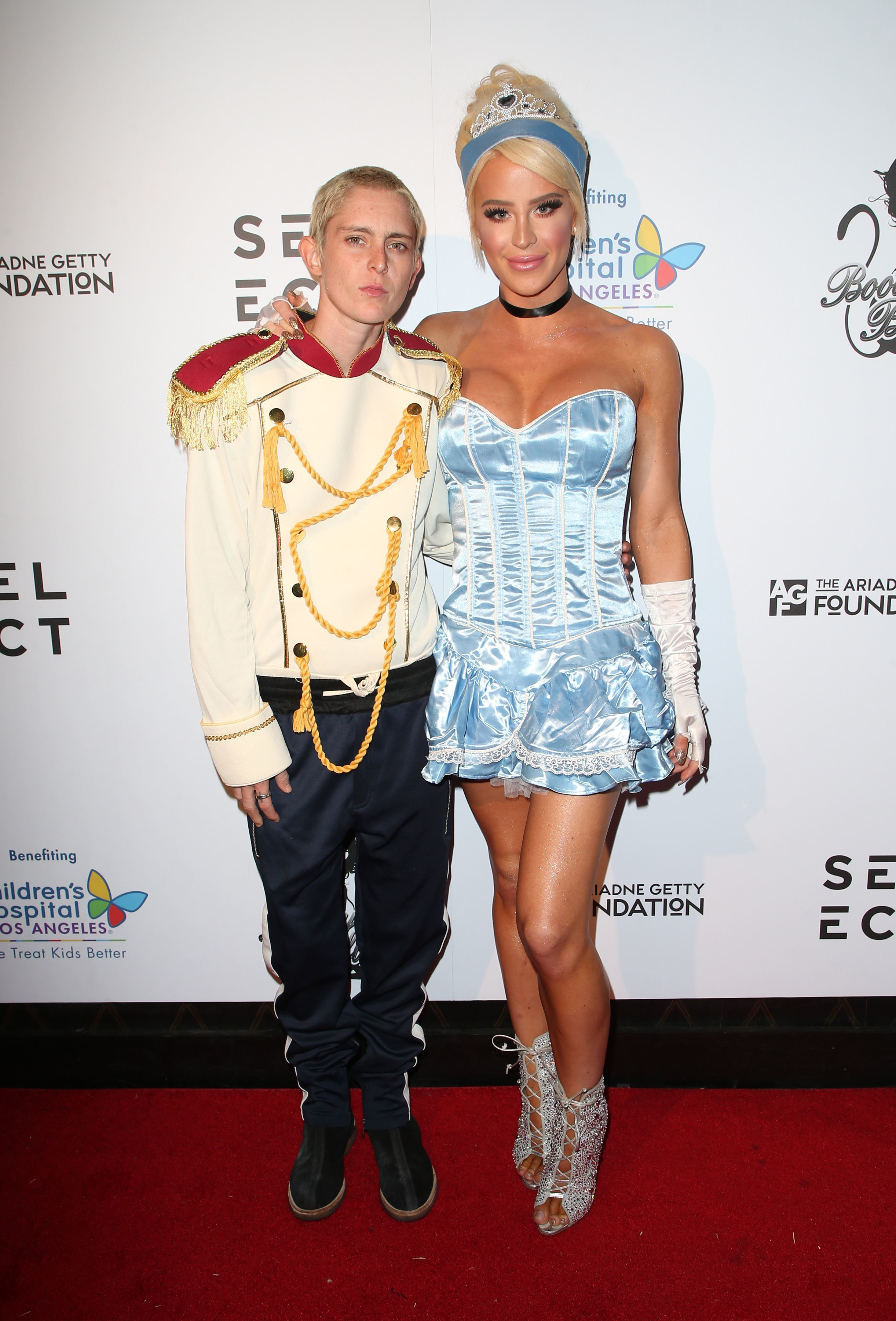 Nats Getty and Gigi Gorgeous appeared at the Haunted 'Carn Evil For Good' Halloween Bash Benefiting Transyouth Health and Development in Los Angeles on Oct. 29, 2017.