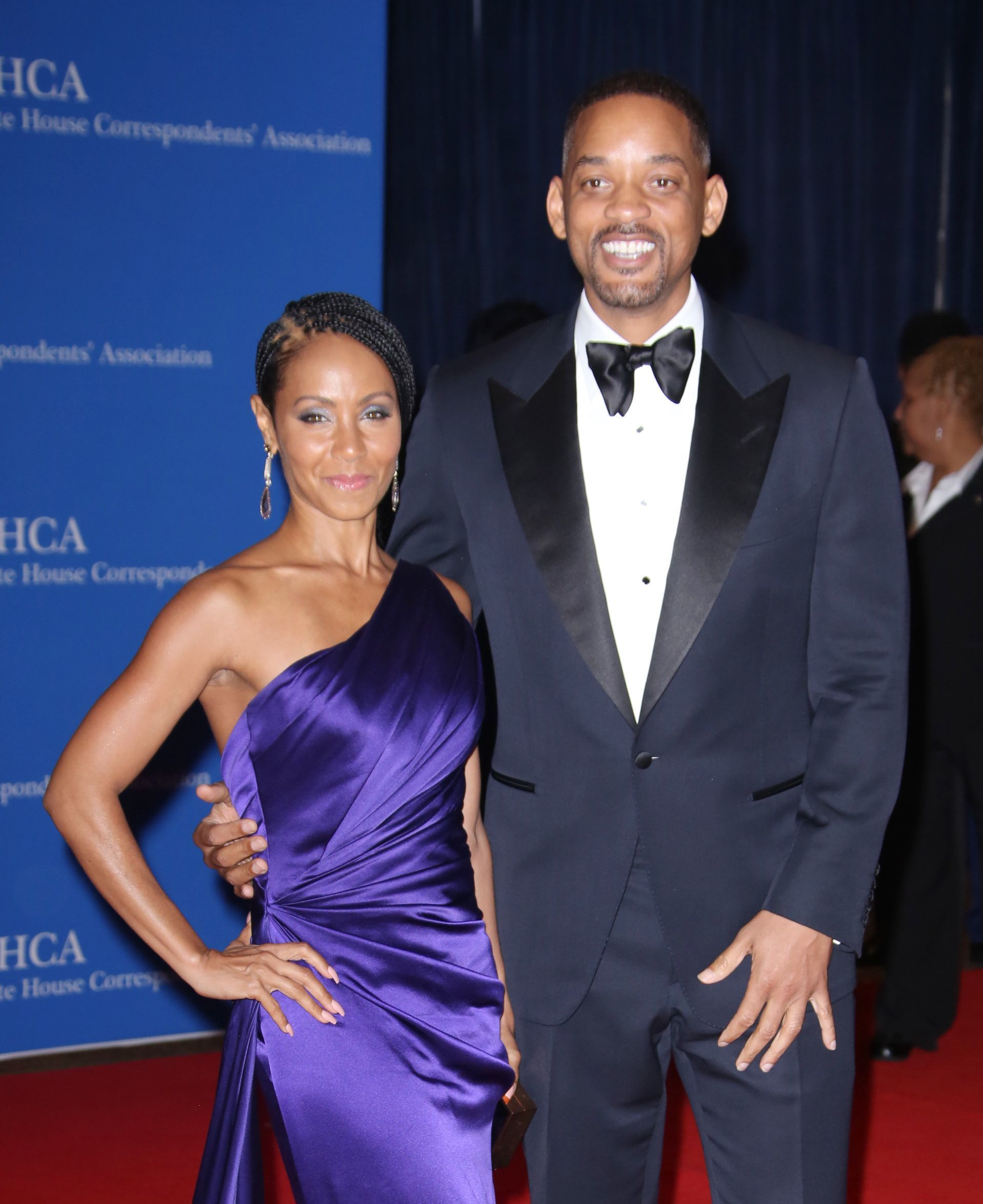 Jada Pinkett Smith and Will Smith attend the White House Correspondent's Association Dinner in Washington, DC, on April 30, 2016.