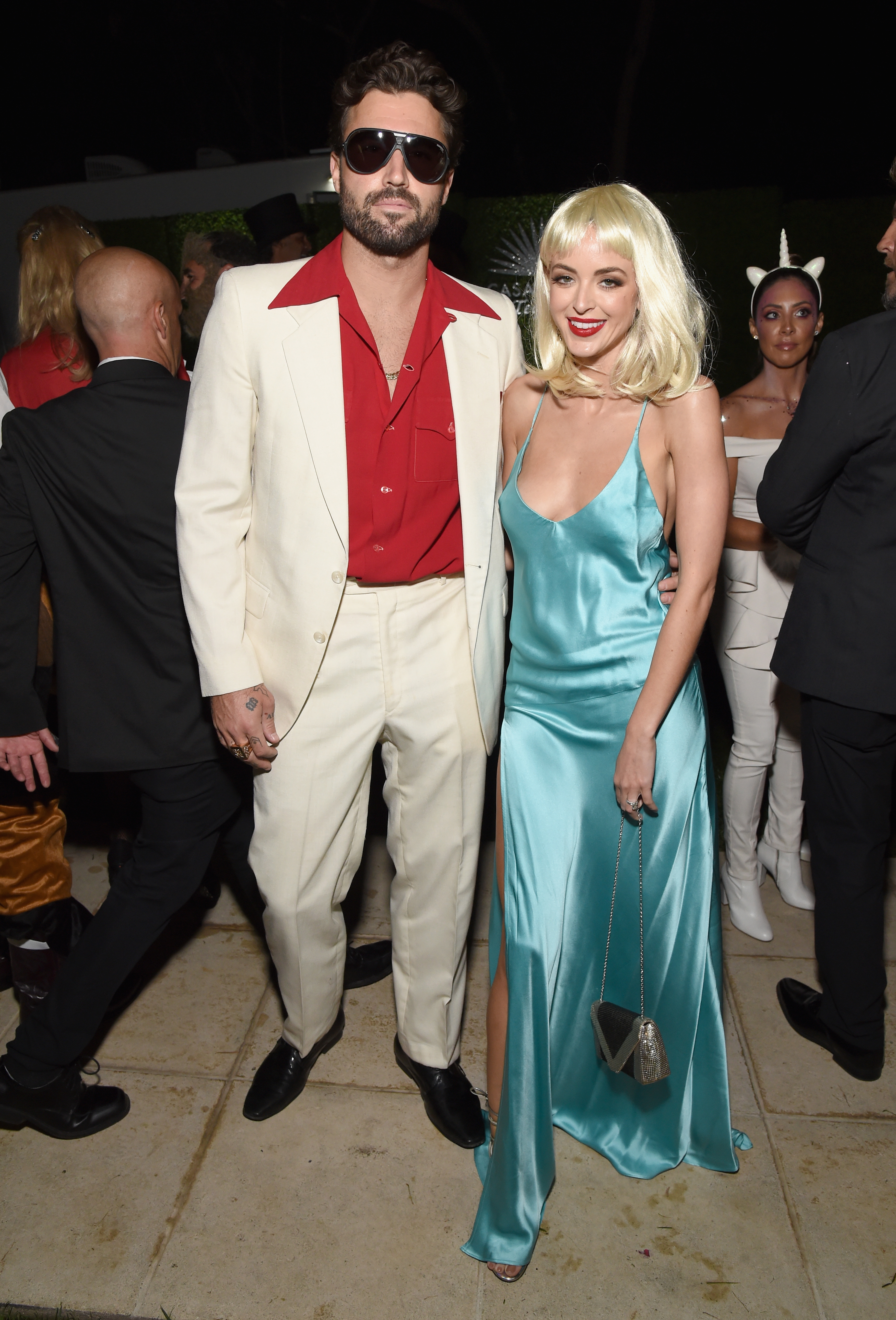Brody Jenner and Kaitlynn Carter go retro for the Casamigos Halloween party in Los Angeles, Calif., on Oct. 26, 2018.