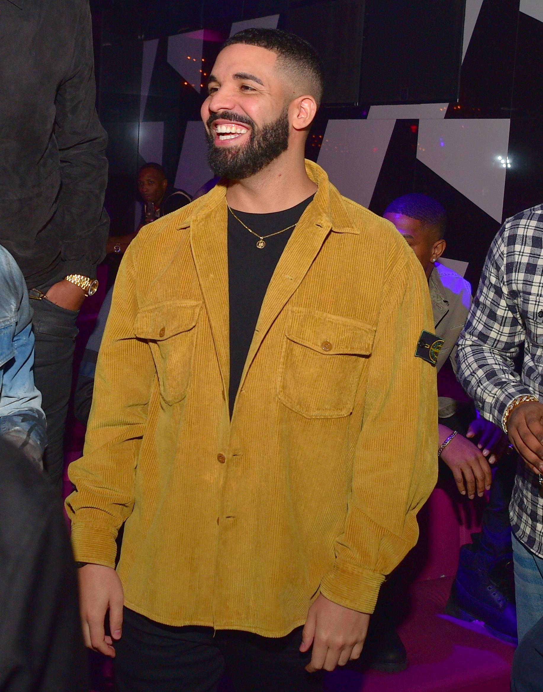 Drake attends Gold Room Saturday Nights at Gold Room in Atlanta  on May 6, 2018.