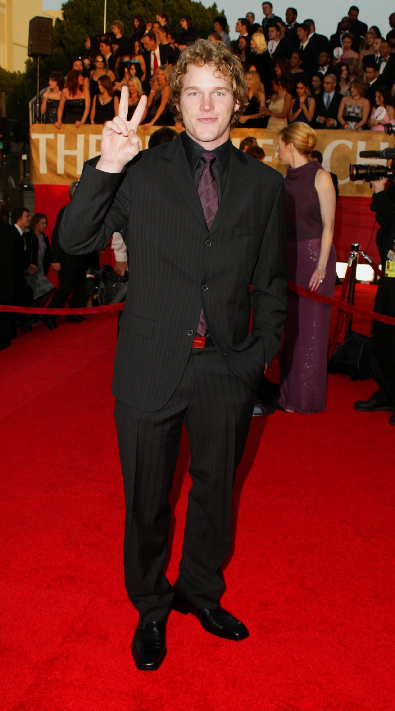 Chris Pratt attends the 29th Annual People's Choice Awards in Los Angeles on Jan. 12, 2003.