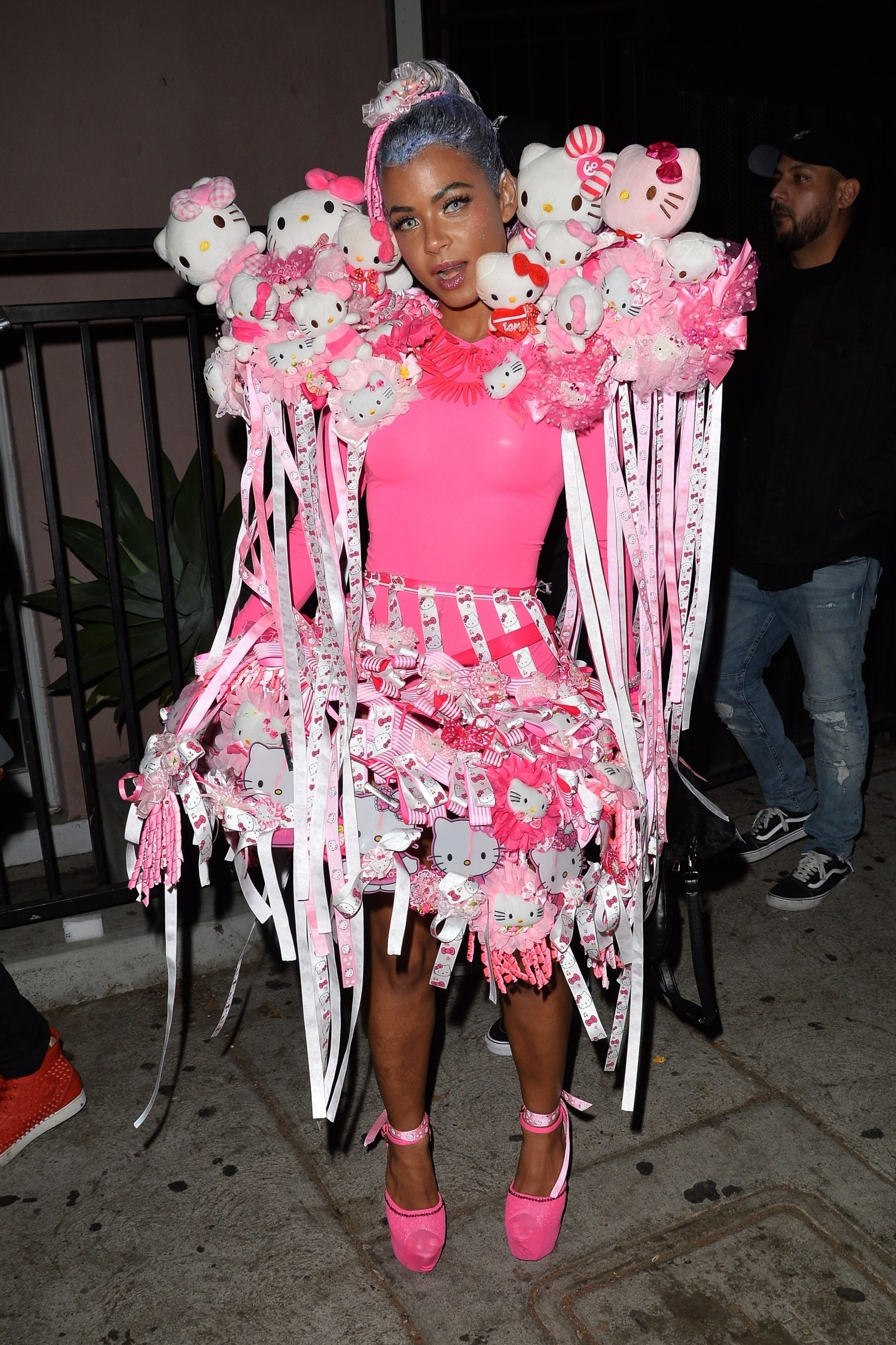 Christina Milian was decked out in Hello Kitty gear at the Galore Magazine party in West Hollywood, California, on Oct. 30, 2018.