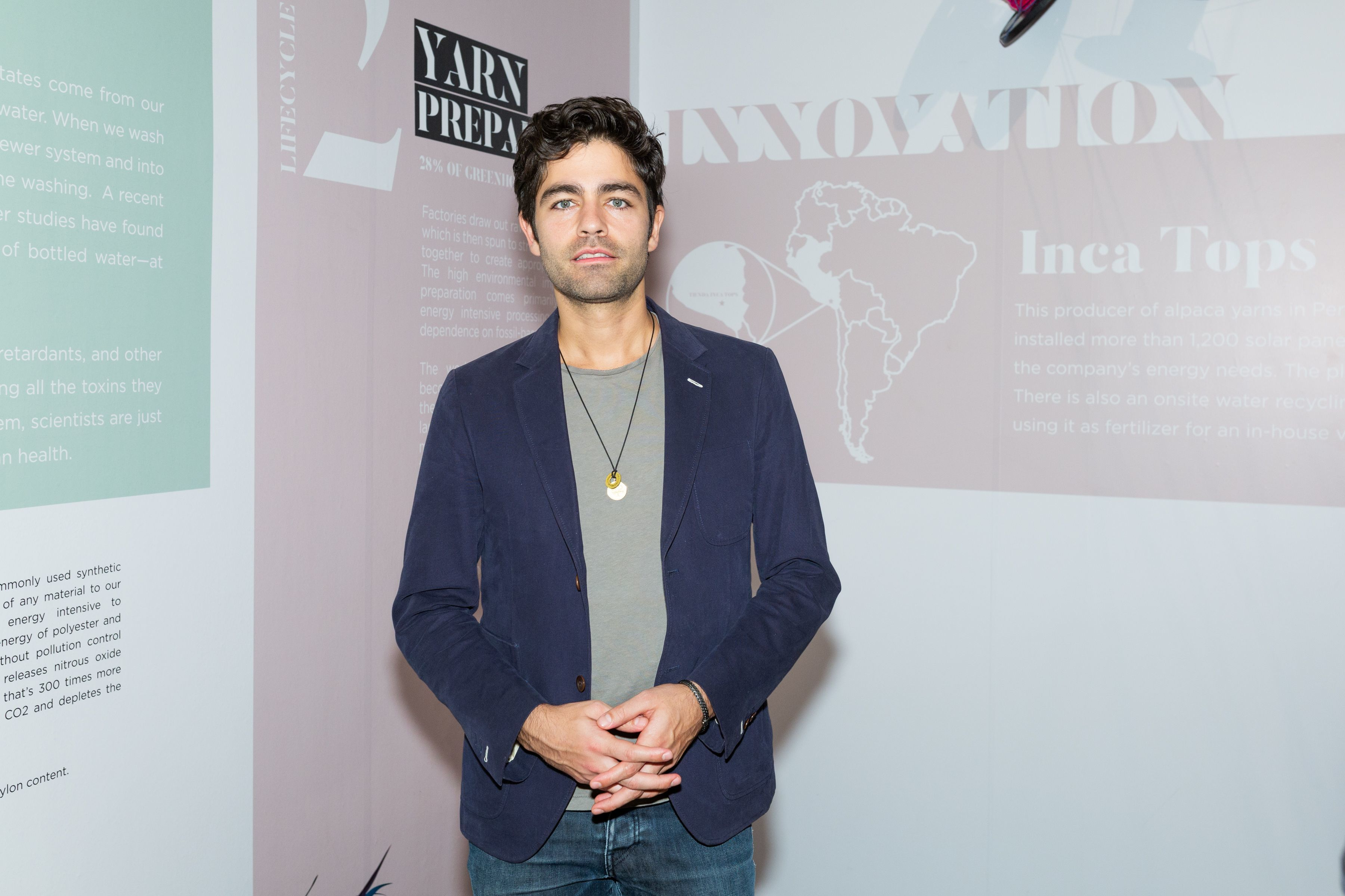 Adrian Grenier attends the Change Fashion Opening Preview in New York City on Nov. 1, 2018.
