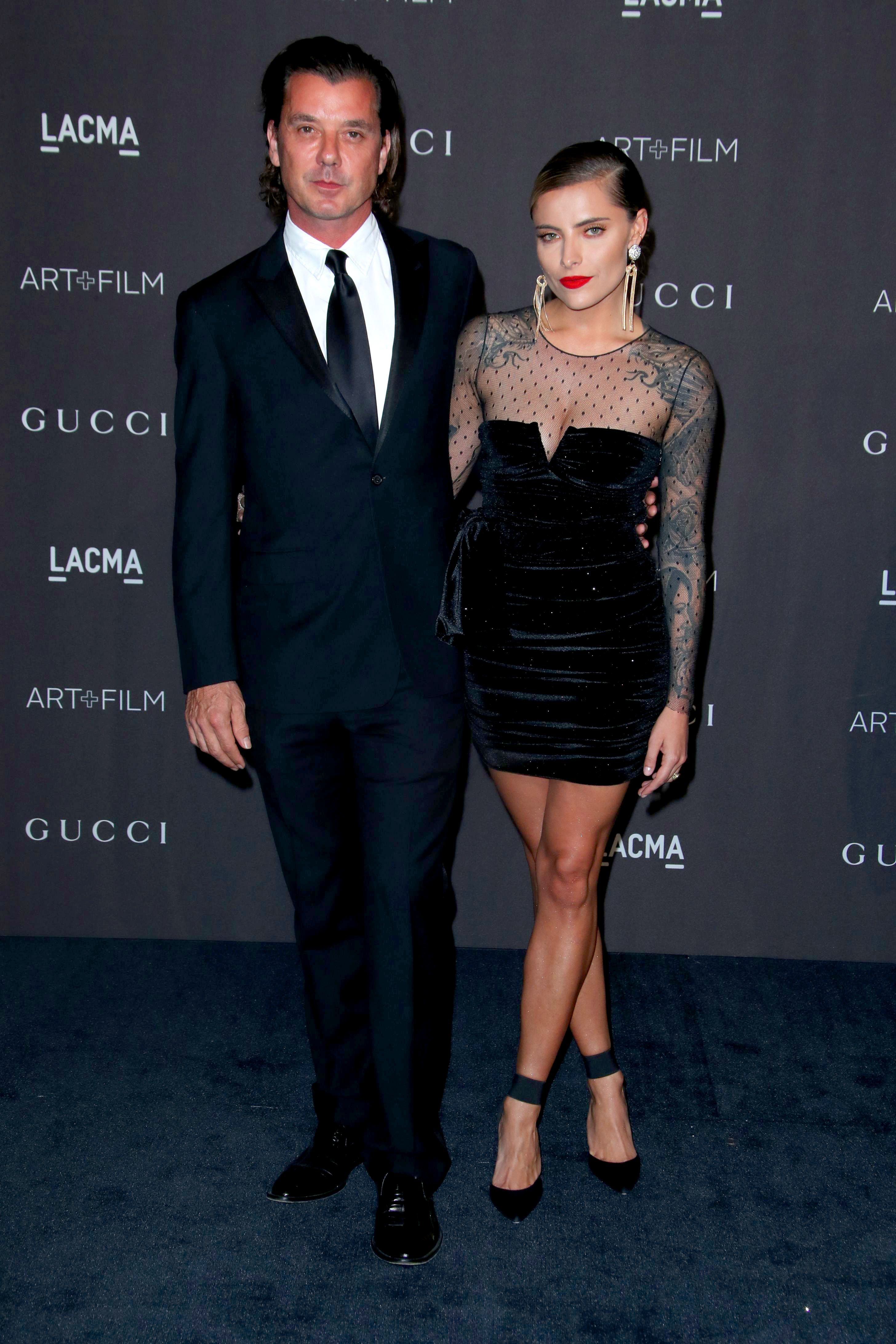 Gavin Rossdale and Sophia Thomalla attend the LACMA Art + Film Gala presented by Gucci in Los Angeles on Nov. 3, 2018.