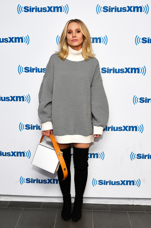 Kristen Bell visits SiriusXM Studios in New York City on Sept. 26, 2018.