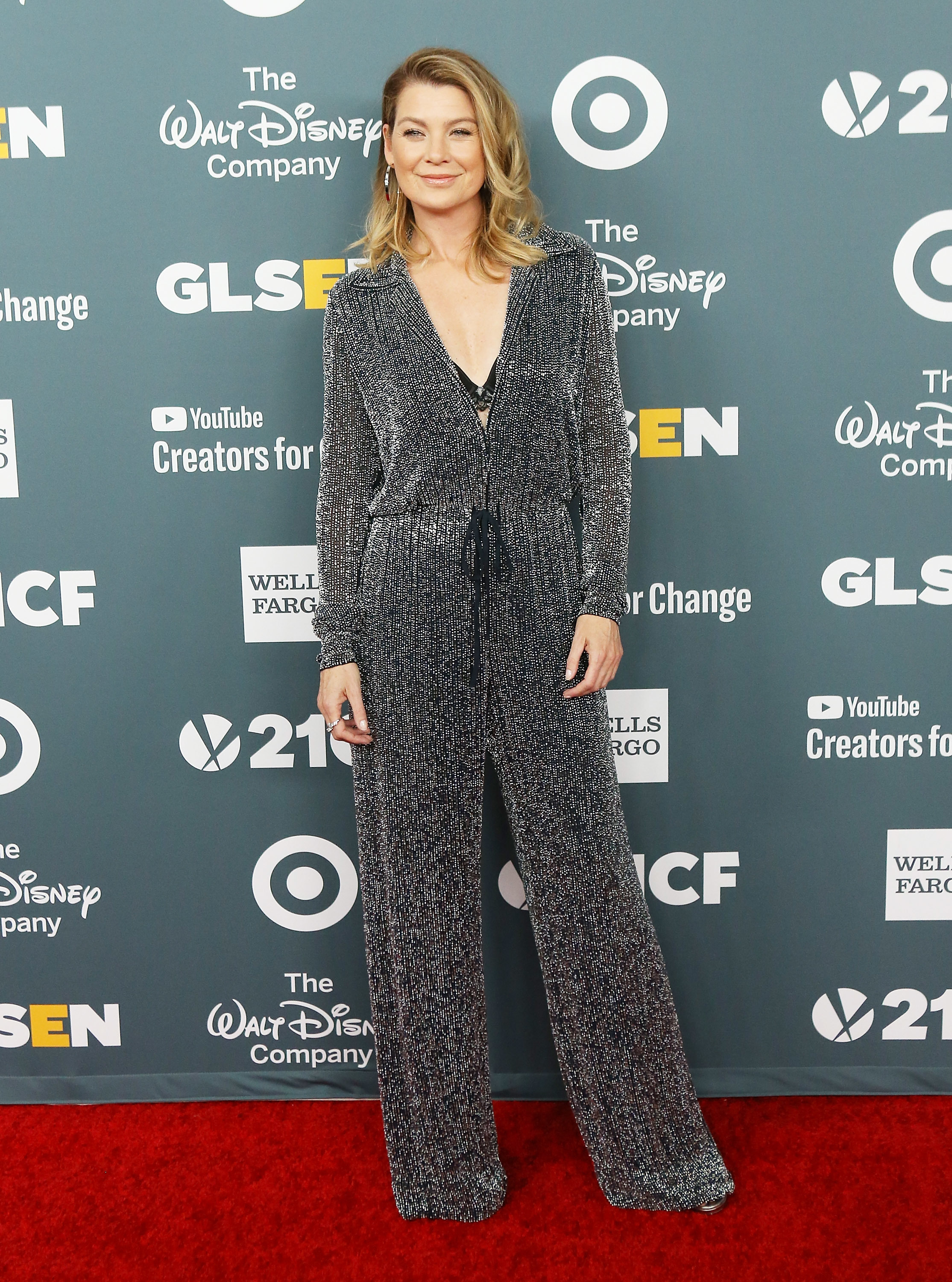 Ellen Pompeo attends the GLSEN Respect Awards held at the Beverly Wilshire Four Seasons Hotel in Beverly Hills, California on Oct. 19, 2018.