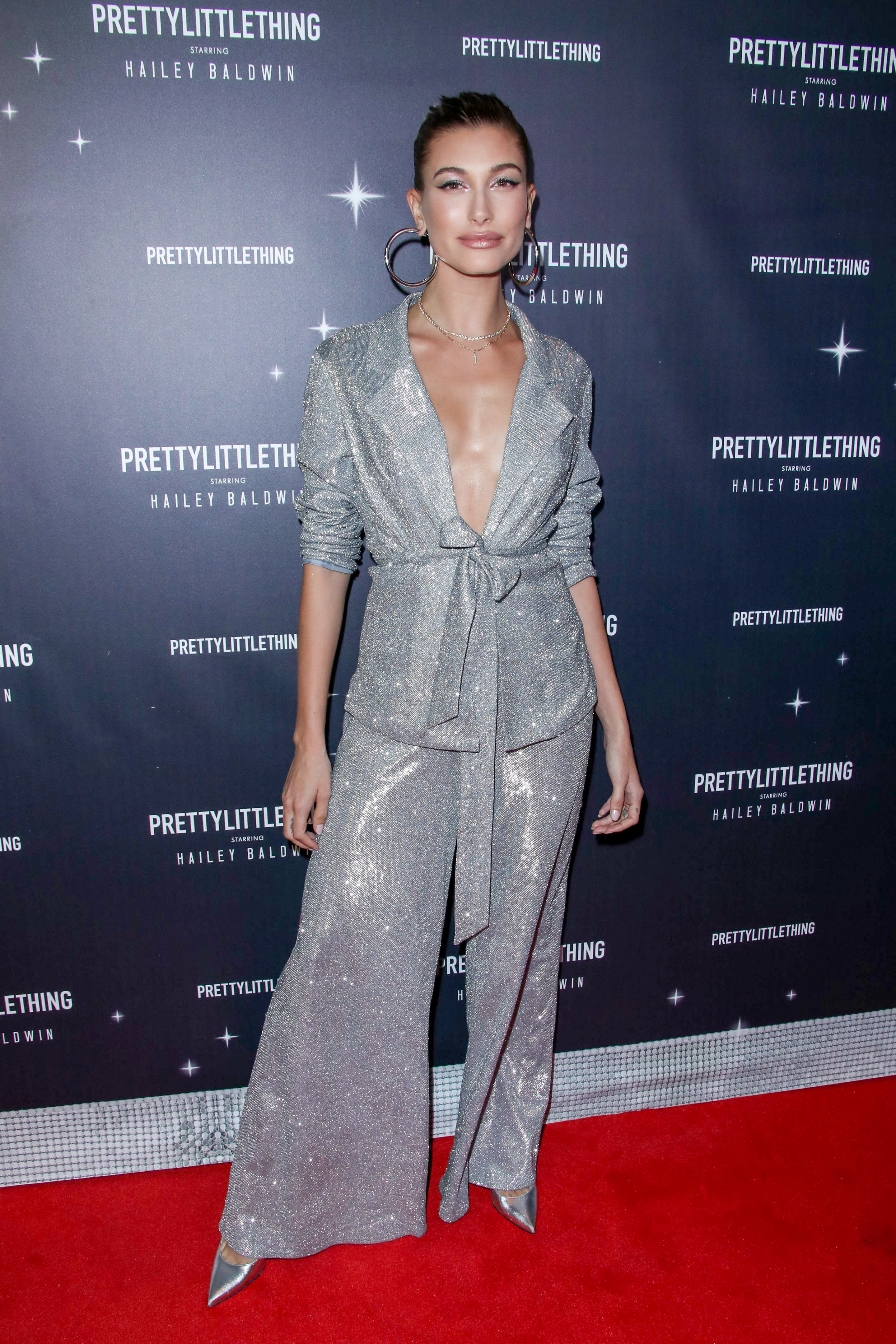 Hailey Baldwin attends the PrettyLittleThing x Hailey Baldwin launch event in Los Angeles on Nov. 5, 2018.