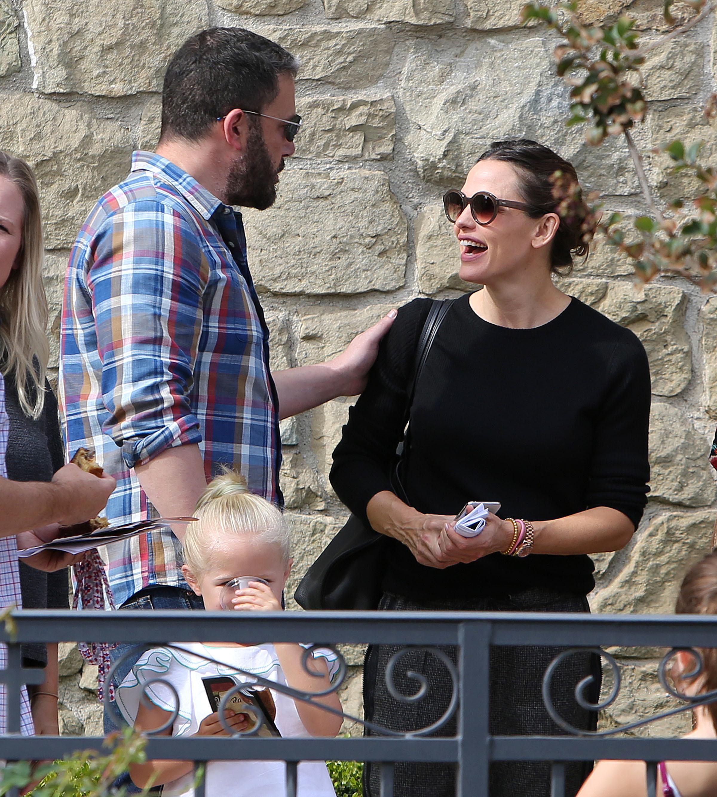 Ben Affleck and Jennifer Garner leave church service in Los Angeles on Nov. 4, 2018.