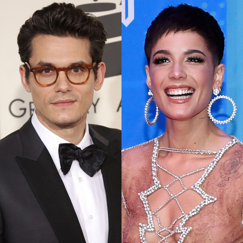 John Mayer attends the 57th Annual Grammy Awards in Los Angeles on Feb. 8, 2015. Halsey attends the MTV EMAs at the Bilbao Exhibition Centre in Spain on Nov. 4, 2018.