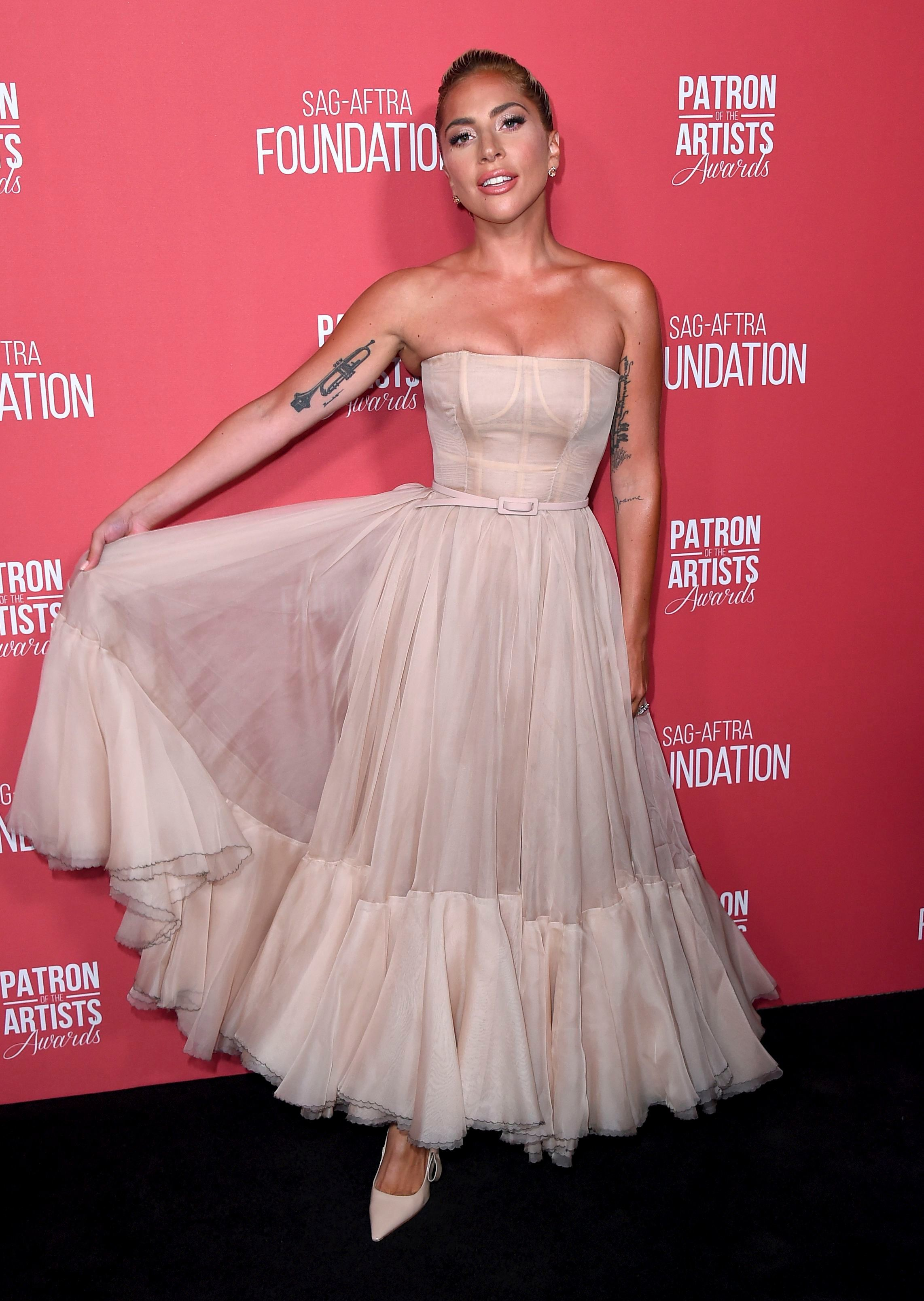Lady Gaga arrives at the Patron of the Artists Awards, at the Wallis Annenberg Center for the Performing Arts in Beverly Hills, California, on Nov. 8, 2018.
