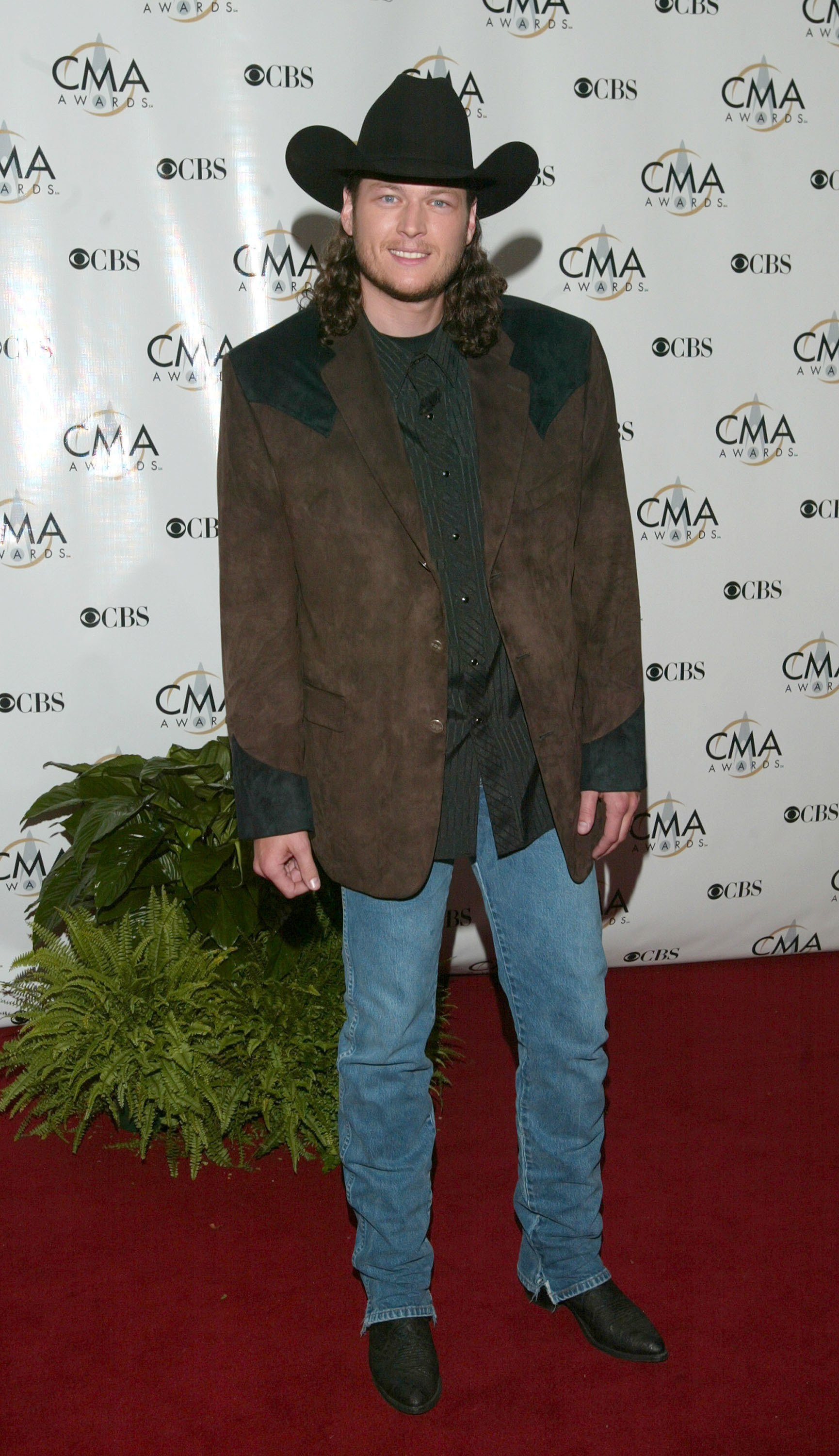 Blake Shelton attends the 37th Annual CMA Awards at the Grand Ole Opry in Nashville on Nov. 5, 2003.