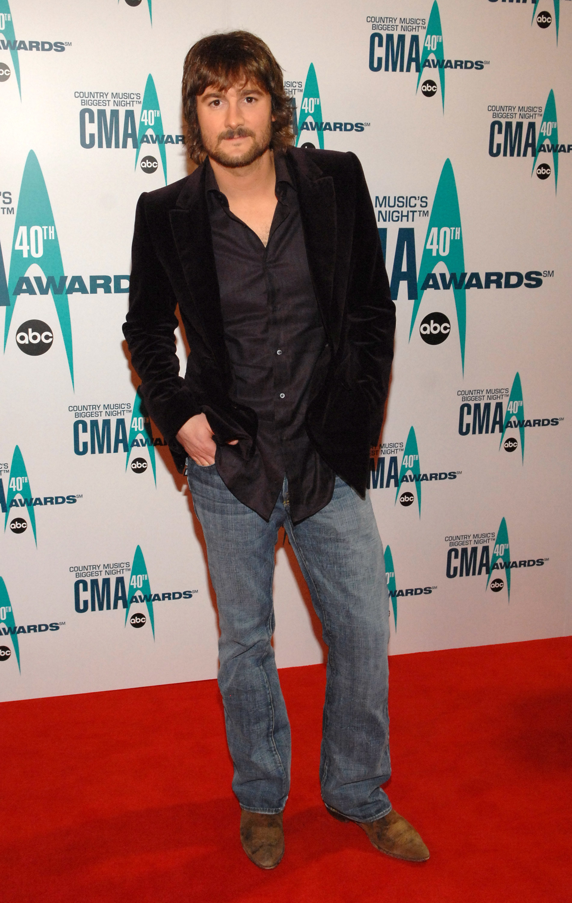 Eric Church attends the 40th Annual CMA Awards at the Gaylord Entertainment Center in Nashville on Nov. 6, 2006.