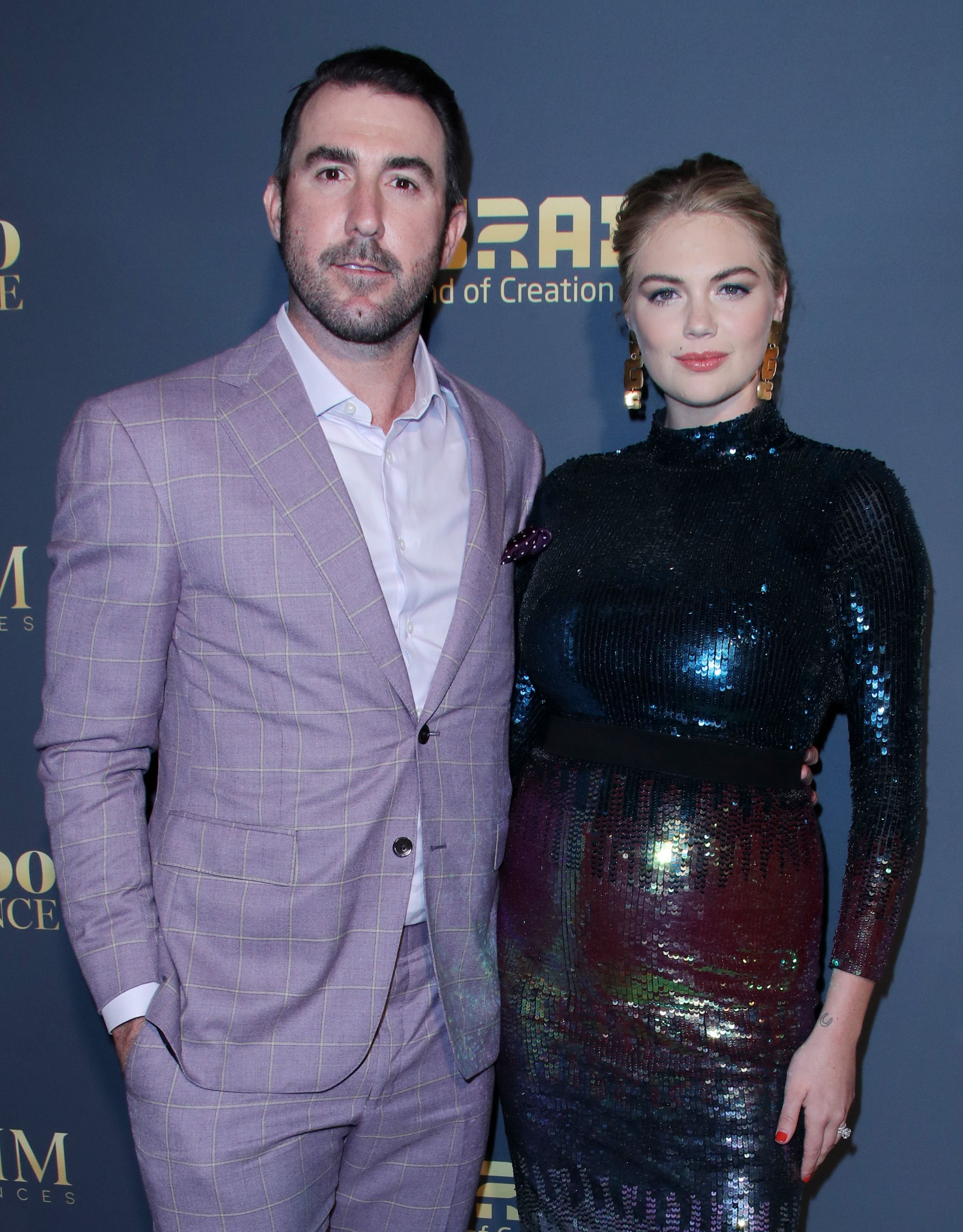 Justin Verlander and Kate Upton attend the Maxim Hot 100 Experience event in Los Angeles on July 21, 2018.
