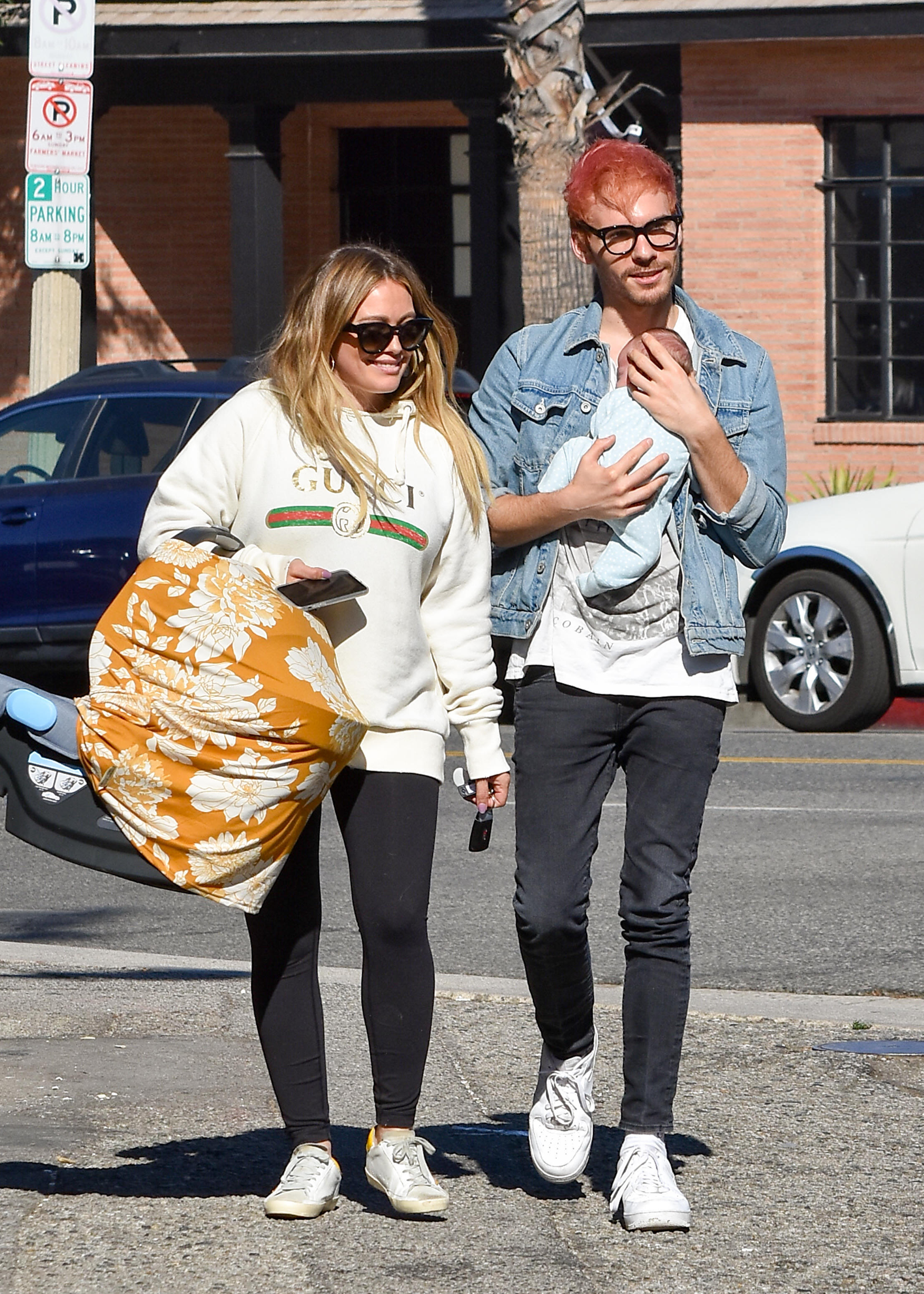 Hilary Duff and Matthew Koma are spotted out and about in Los Angeles on Nov. 9, 2018.