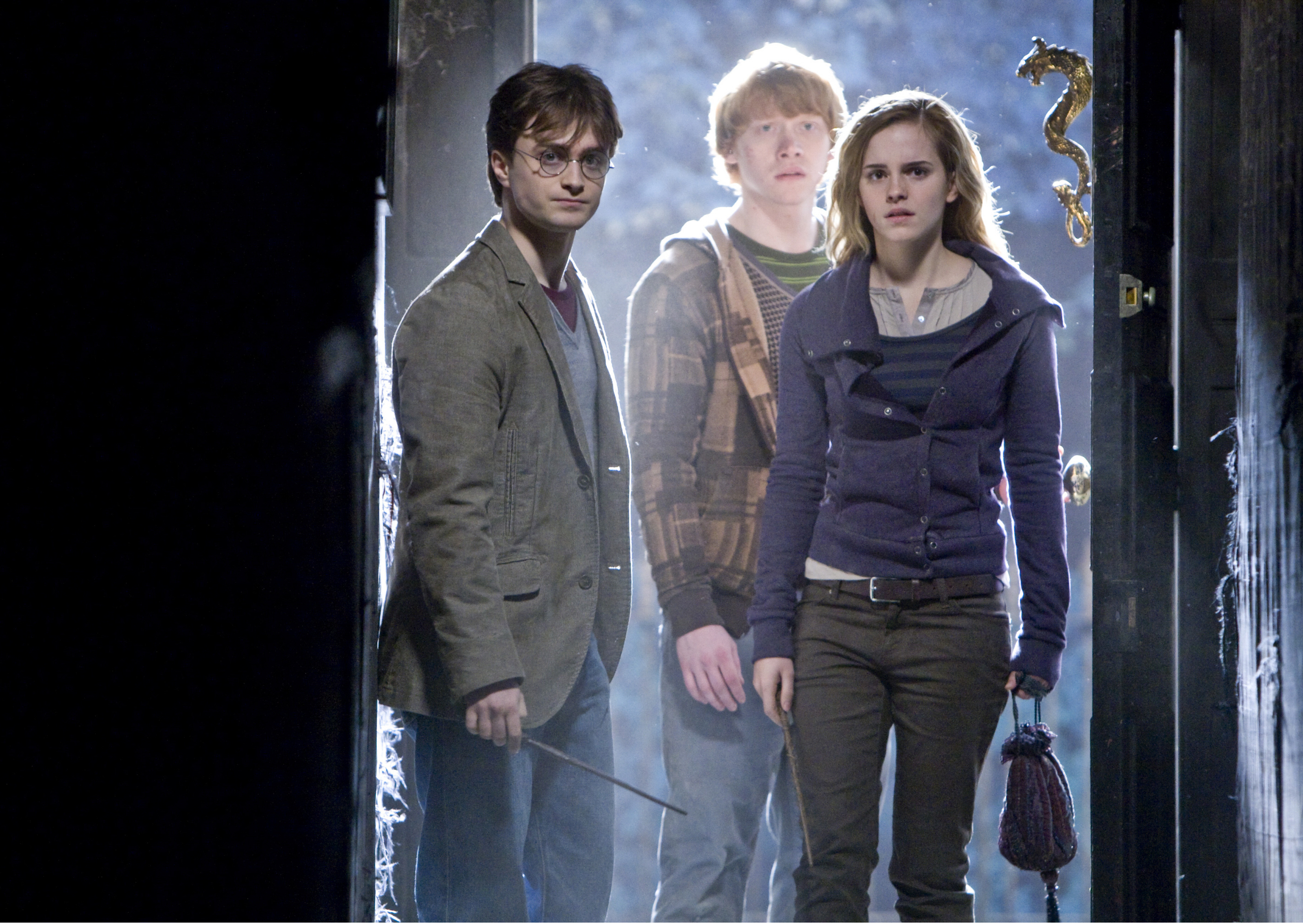 "Daniel Radcliffe, Rupert Grint and Emma Watson star in 2010's ""Harry Potter and the Deathly Hallows: Part 1."""
