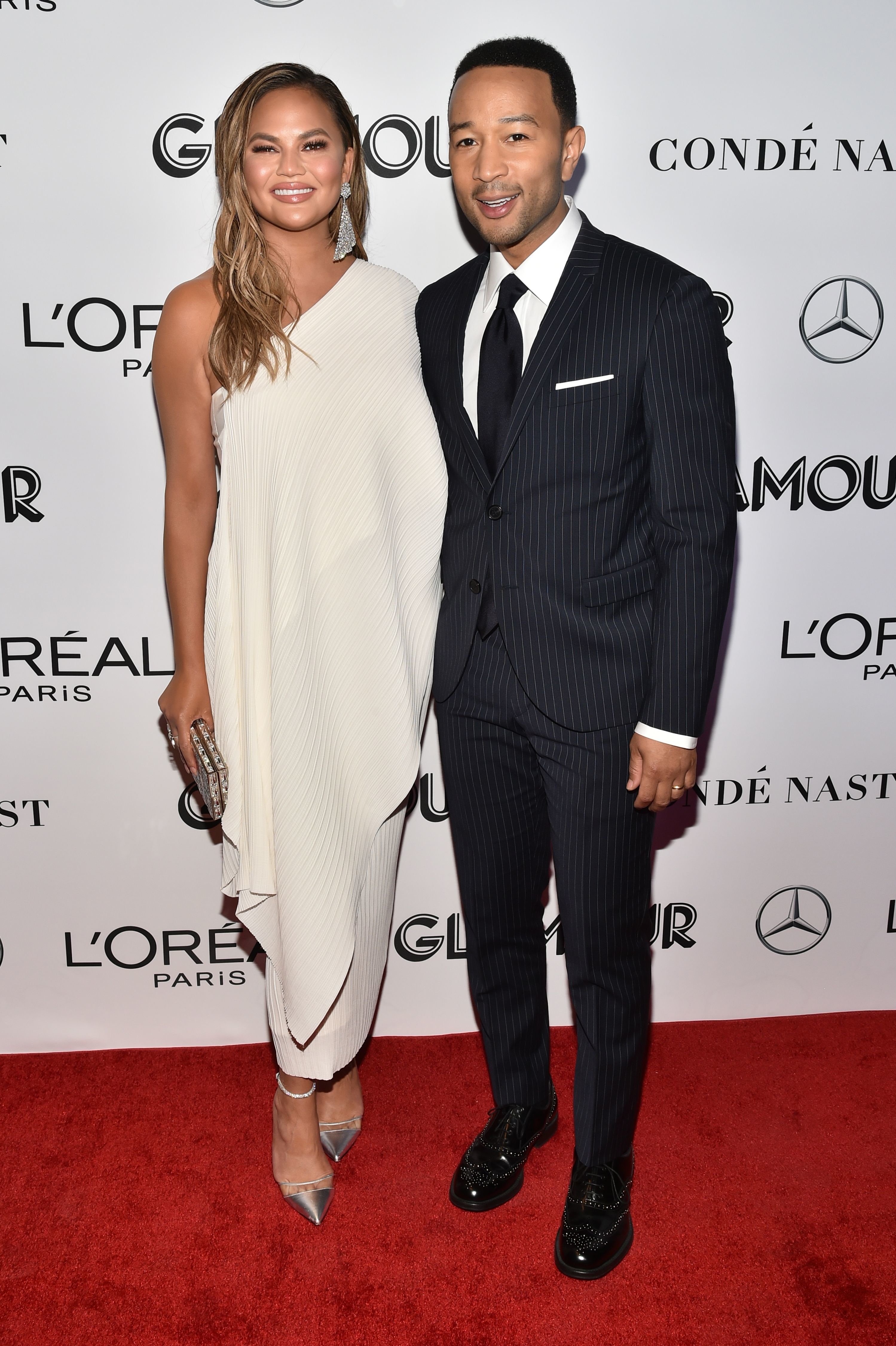 Chrissy Teigen and John Legend attend the Glamour's 28th annual Woman of the Year Awards in New York City on Nov. 12, 2018.