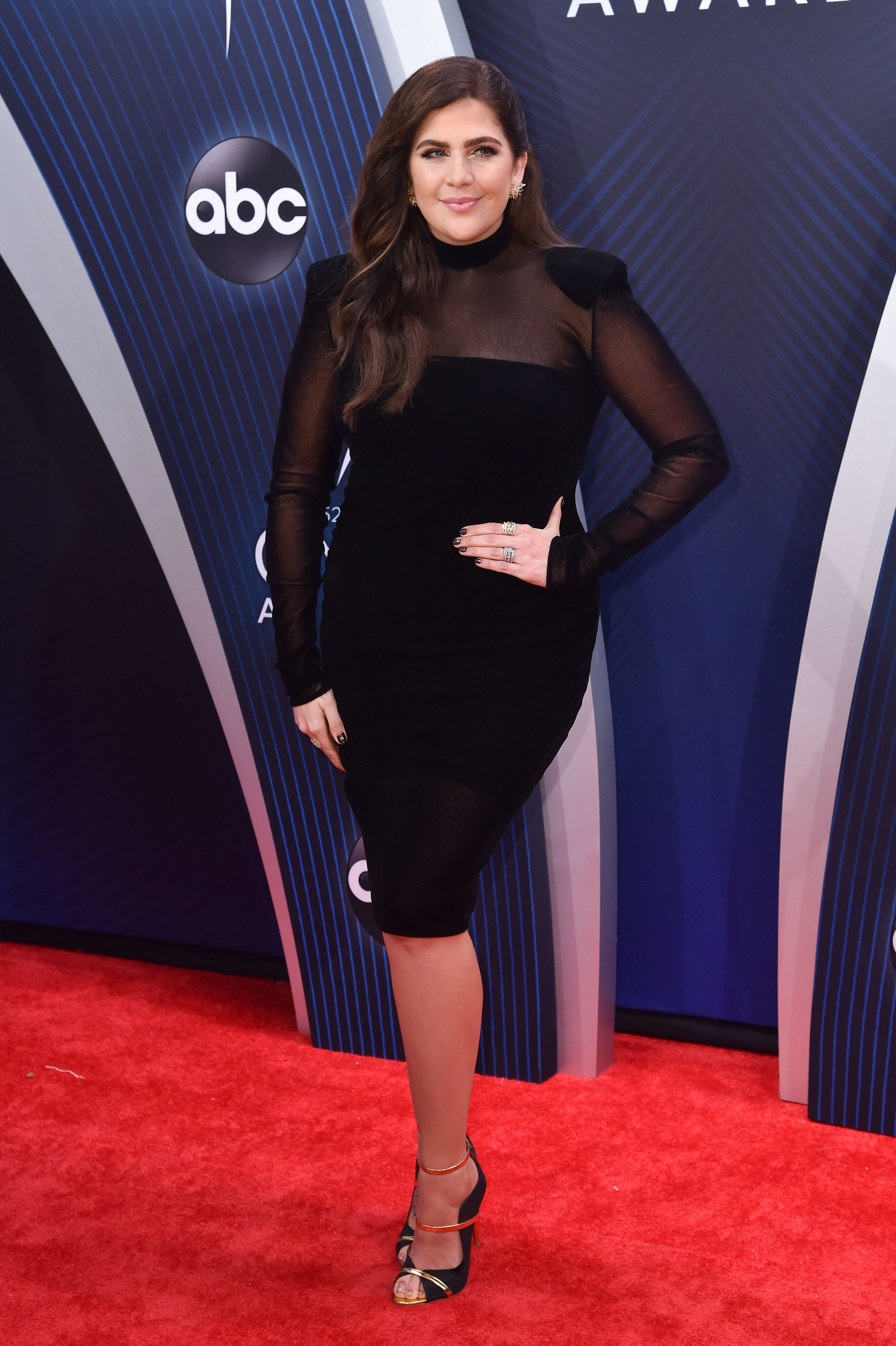 Hillary Scott attends the 52nd Annual CMA Awards in Nashville, Tennessee, on Nov. 14, 2018.