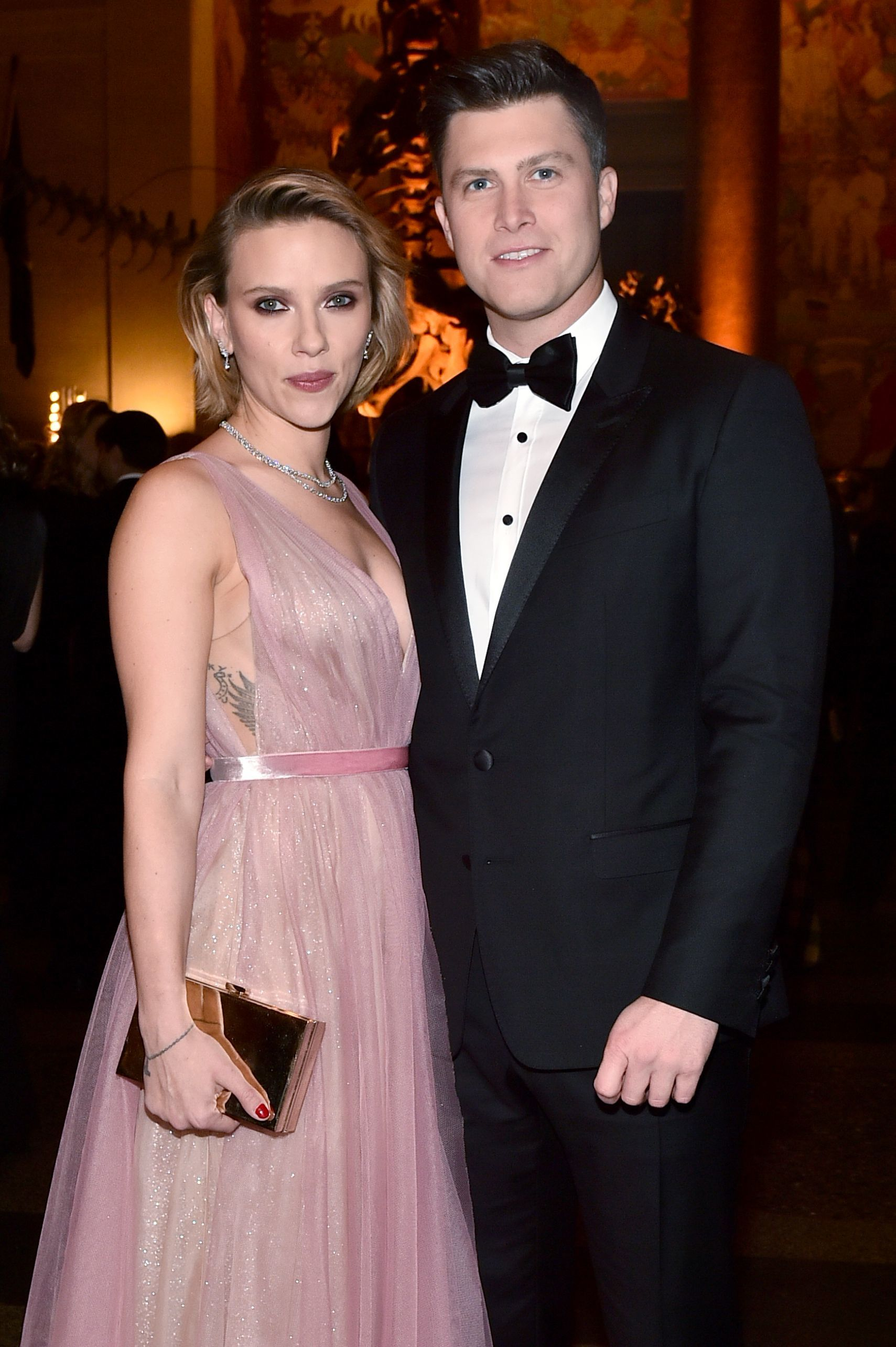 Scarlett Johansson and Colin Jost attend The American Museum Of Natural History 2018 Gala at American Museum of Natural History in New York City on Nov. 15, 2018.