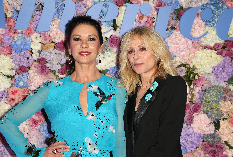 "Catherine Zeta Jones and Judith Light attend the ""Queen America"" TV show premiere in Los Angeles on Nov. 15, 2018."