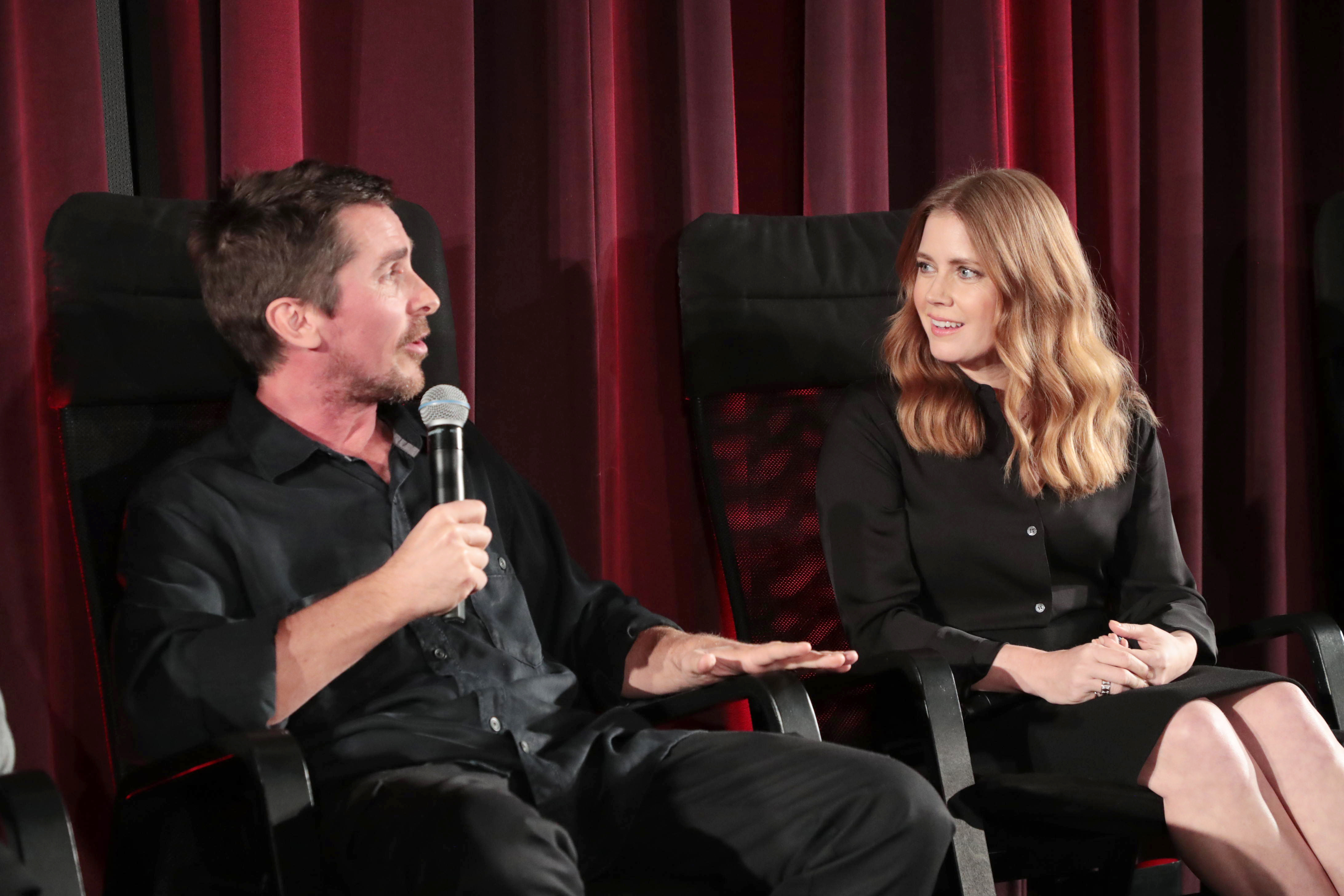 "Christian Bale and Amy Adams attend the ""VICE"" special screening in Los Angeles on Nov. 17, 2018."