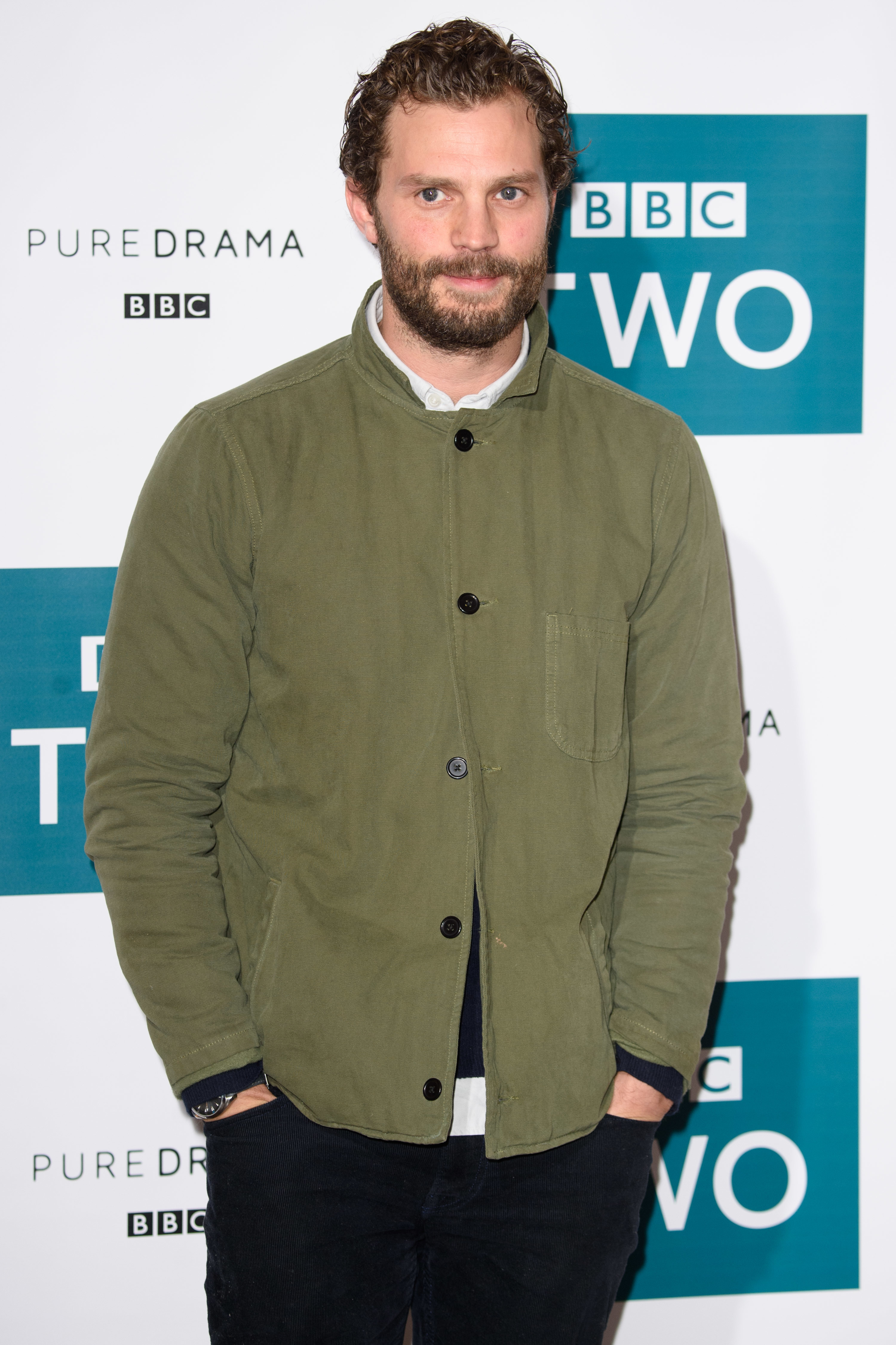"""Jamie Dornan  attends the """"Death and Nightingales"""" TV show photocall at the Soho Hotel in London on Nov. 26, 2018."""