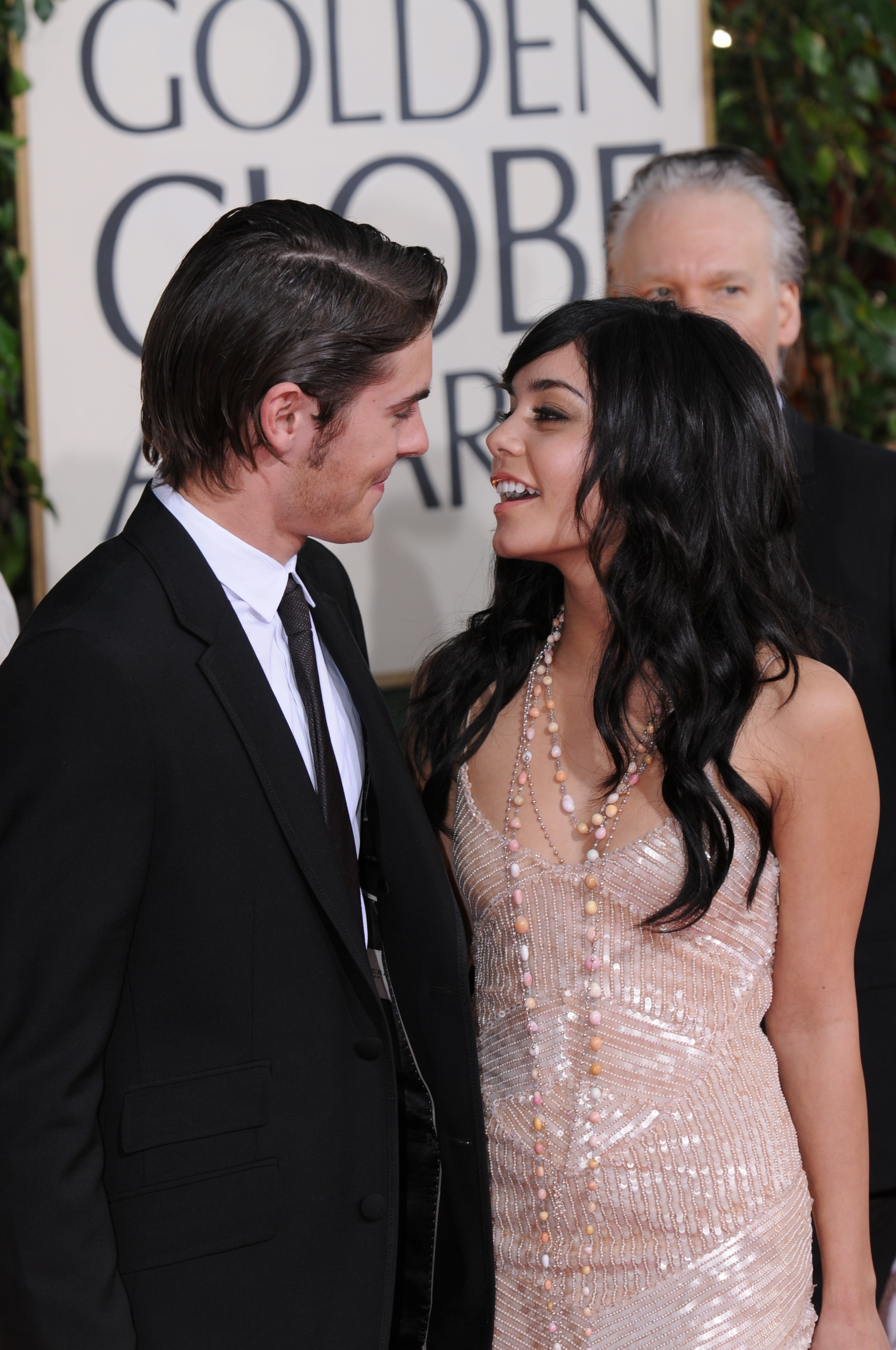 Zac Efron and Vanessa Hudgens attend The 66th Annual Golden Globe Awards, Arrivals, Beverly Hilton Hotel in Los Angeles on Jan. 11, 2009.