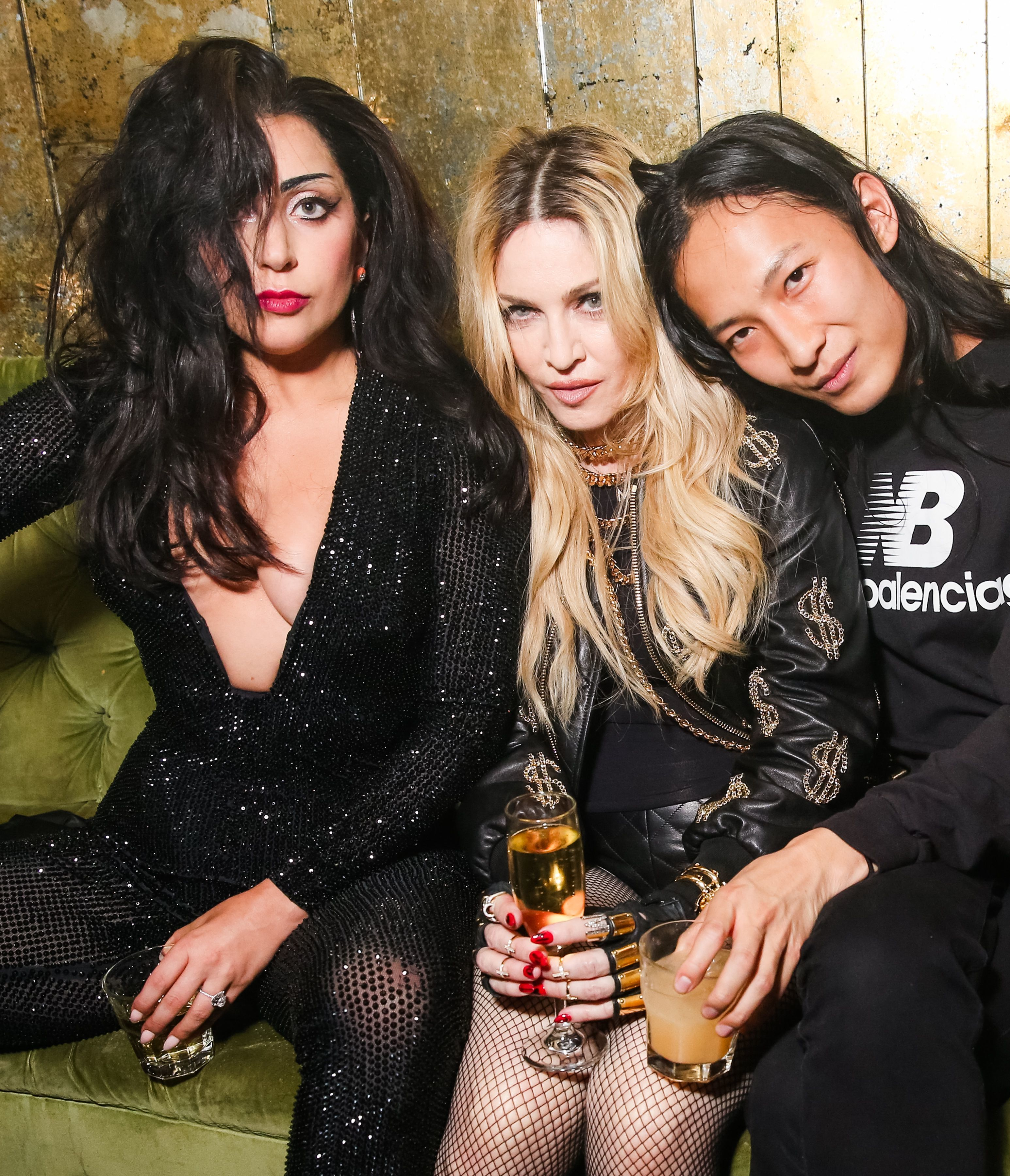 """Lady Gaga, Madonna and Alexander Wang attend the Costume Institute Gala benefit celebrating """"China: Through the Looking Glass"""" afterparty at Diamond Horseshoe in New York on May 4, 2015."""