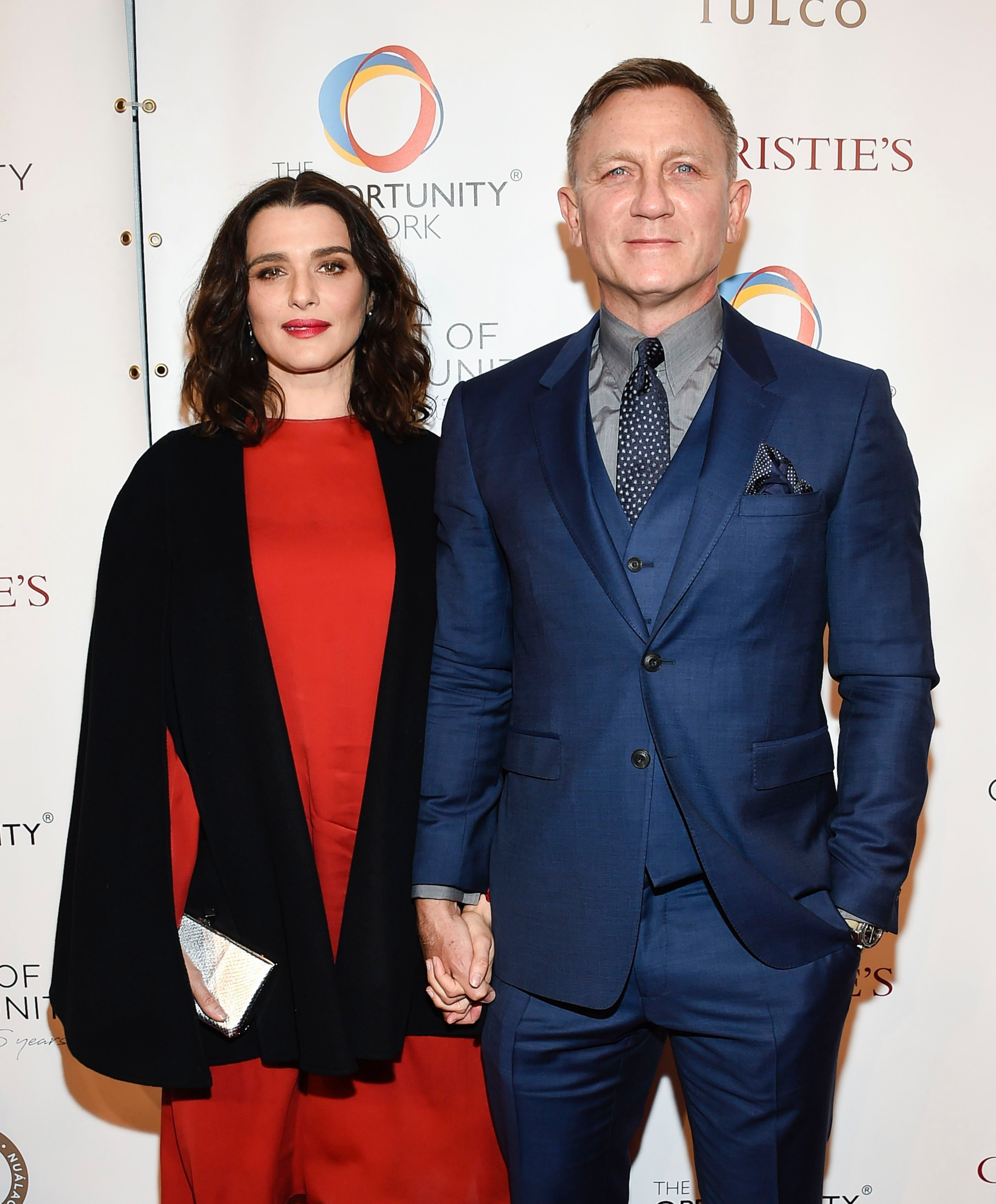 Rachel Weisz and Daniel Craig attend The Opportunity Network's 11th Annual Night of Opportunity Gala at Cipriani Wall Street in New York City on April 9, 2018.