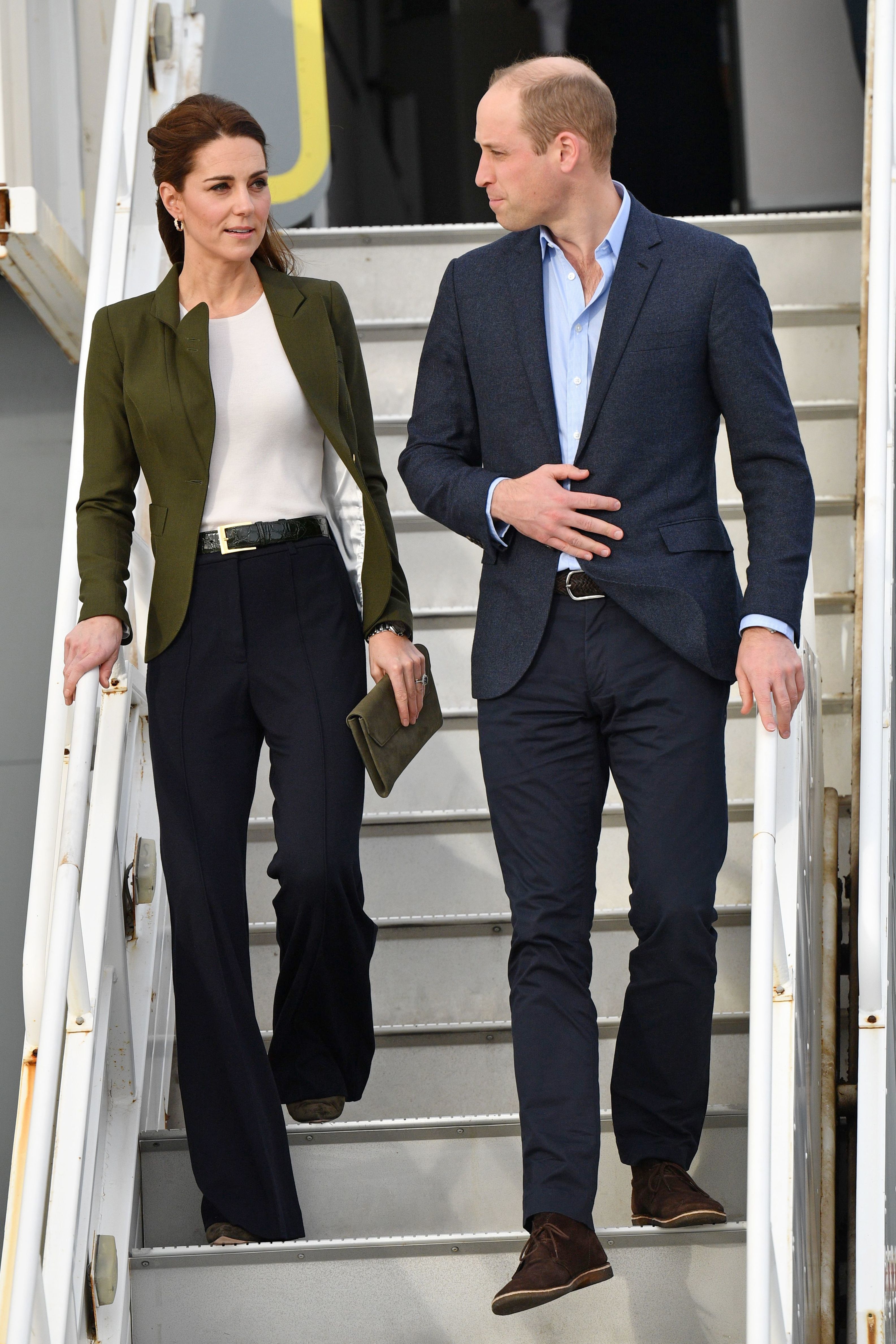 Duchess Kate and Prince William arrive at RAF Akrotiri  to visit military personnel in Cyprus on Dec. 5, 2018.