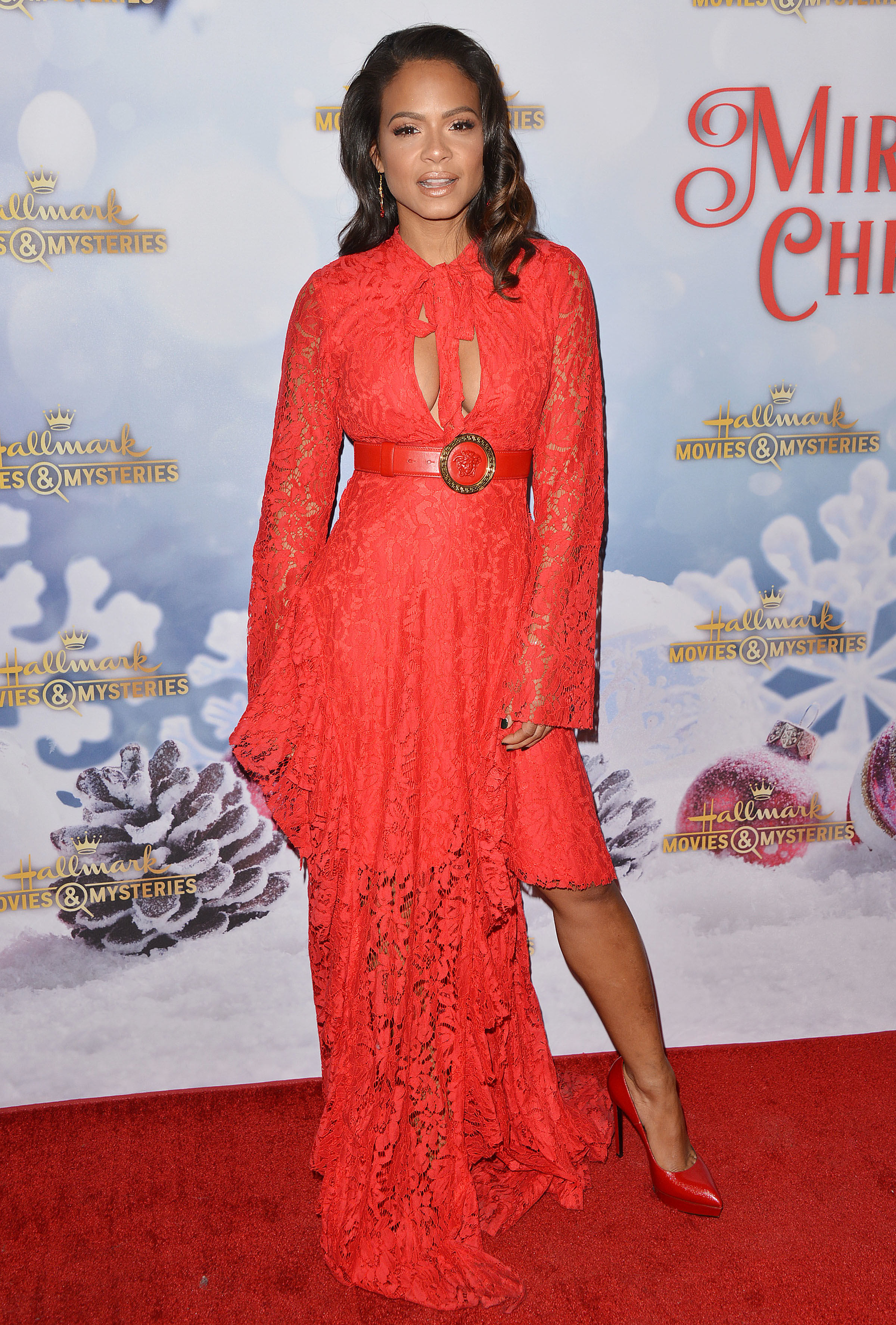 "Christina Milian attends the Hallmark Channel Holiday Party and ""Once Upon a Christmas Miracle"" screening in Los Angeles on Dec. 4, 2018."