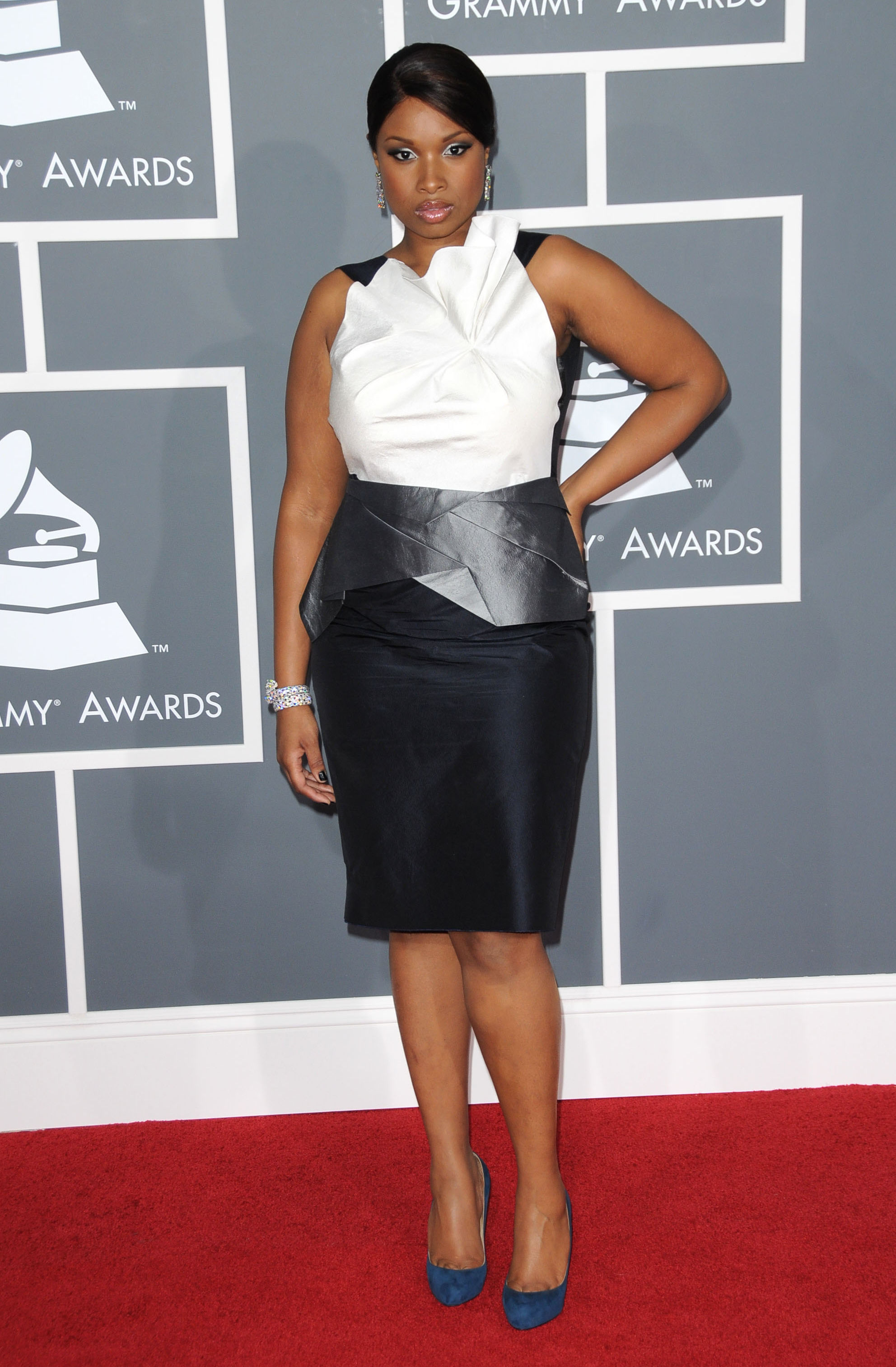 Jennifer Hudson arrives at the 51st Annual Grammy Awards at the Staples Center in Los Angeles on Feb. 8, 2009.