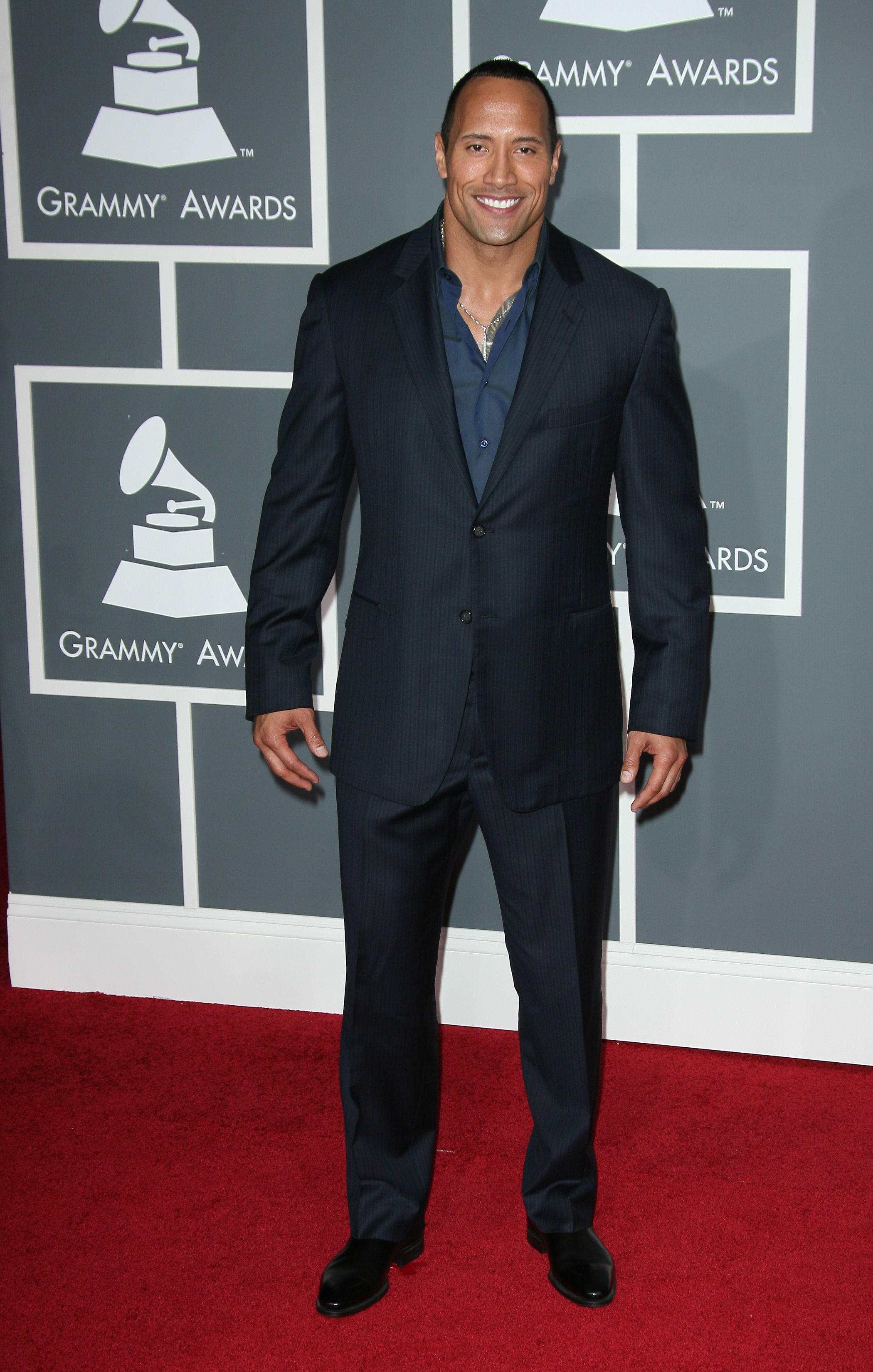 Dwayne Johnson arrives at the 51st Annual Grammy Awards at the Staples Center in Los Angeles on Feb. 8, 2009.