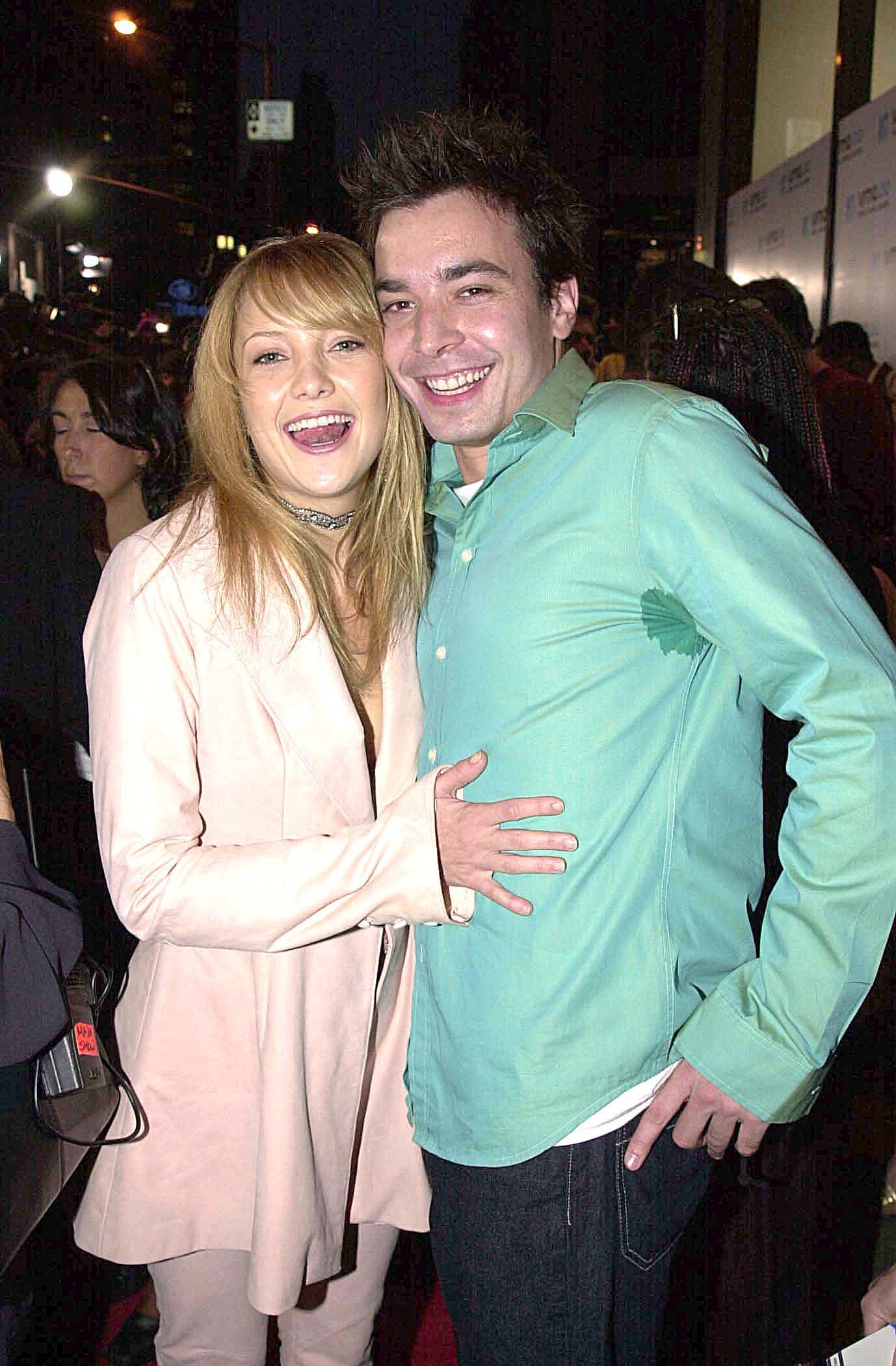Kate Hudson and Jimmy Fallon attend the 2000 MTV Video Music Awards at Radio City Music Hall in New York City.
