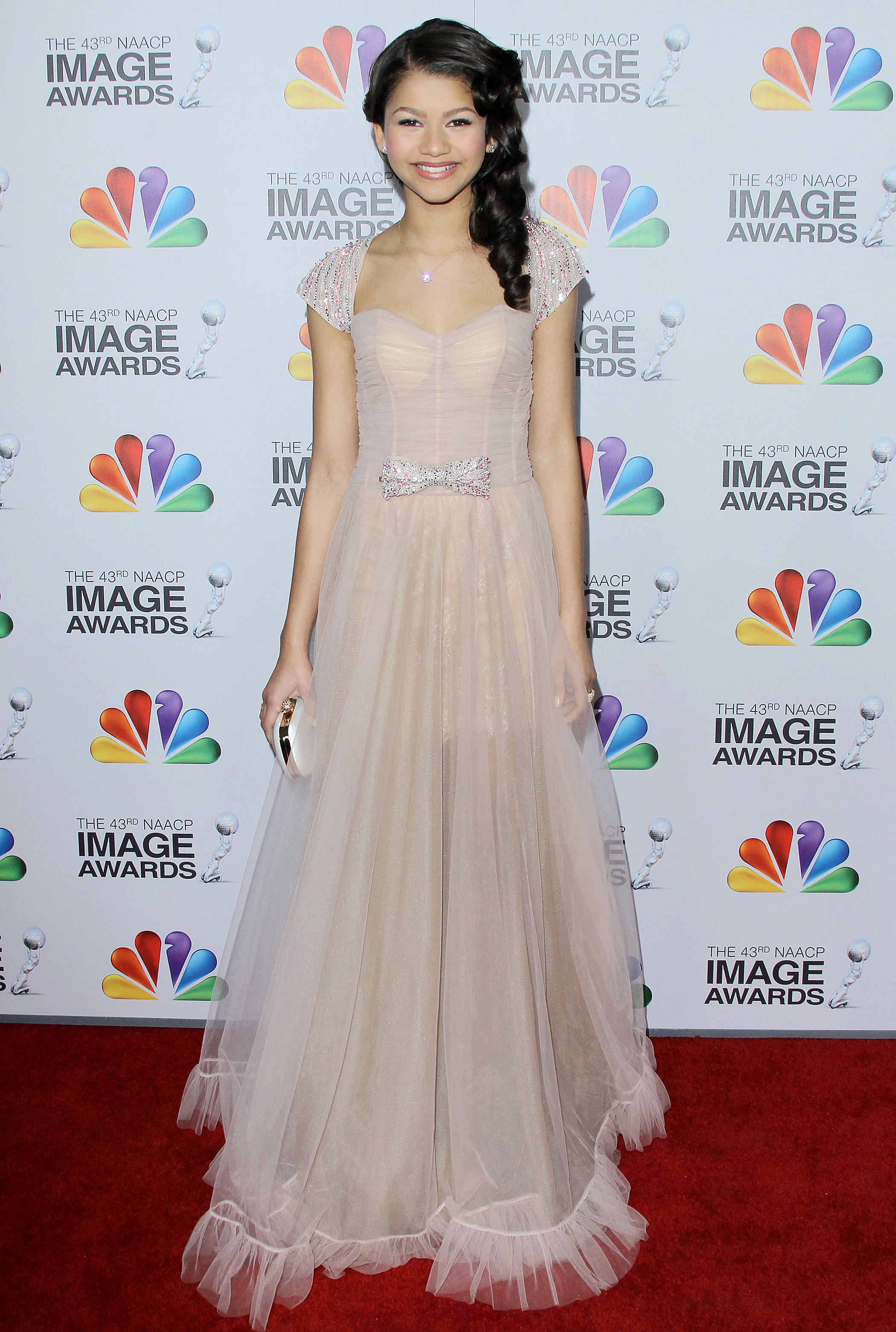 Zendaya Coleman at the 43rd Annual NAACP Image Awards at the Shrine Auditorium in Los Angeles on Feb. 12, 2012.