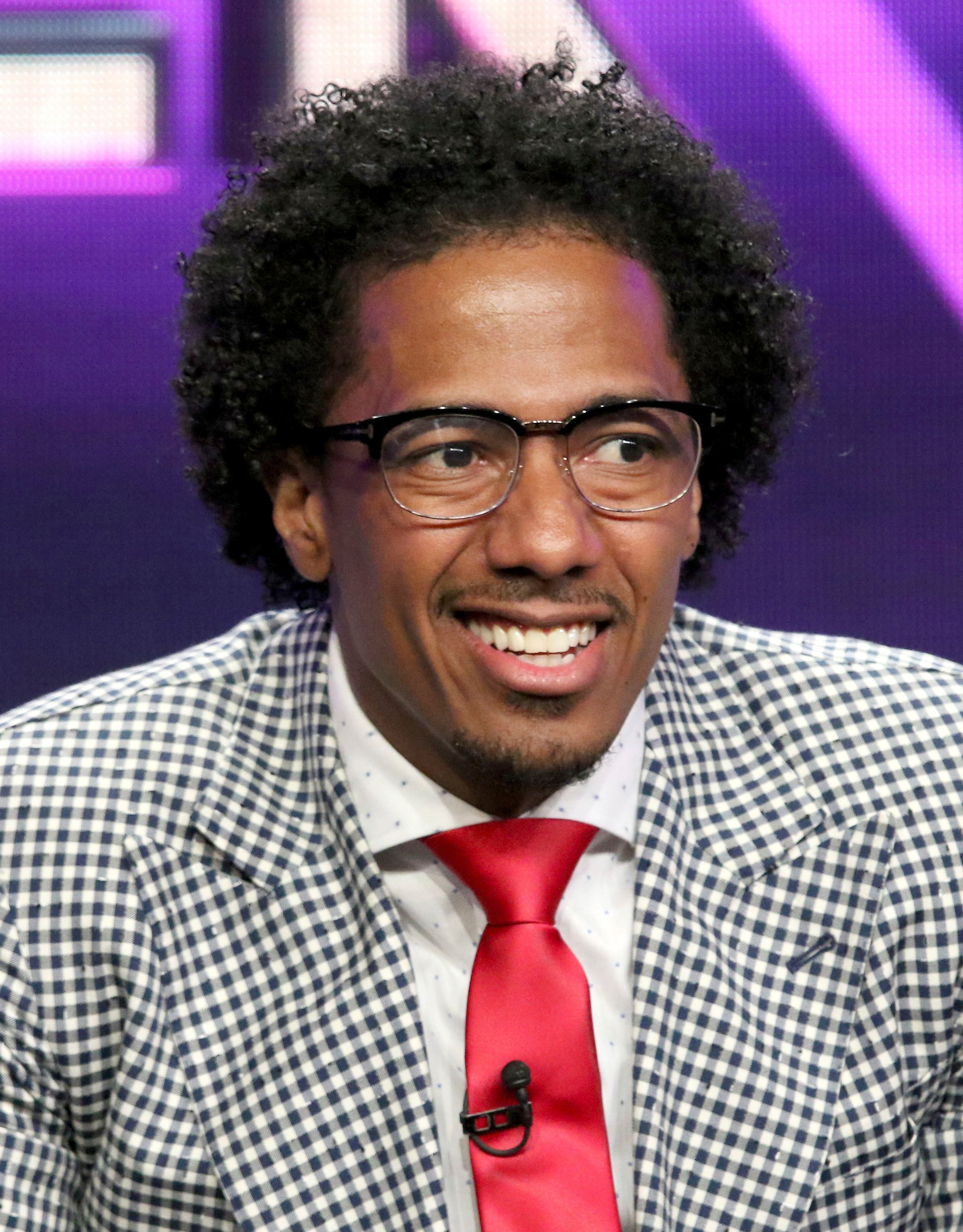 """Nick Cannon participates in """"The Masked Singer"""" panel during the Fox Television Critics Association Summer Press Tour at the Beverly Hilton Hotel in Beverly Hills, Calif., on Aug. 2, 2018."""