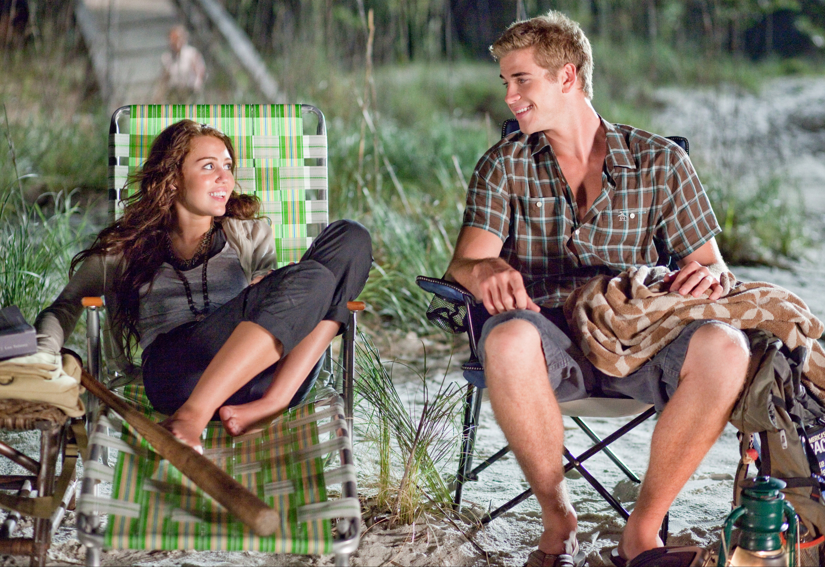 "Miley Cyrus and Liam Hemsworth star in 2010's ""The Last Song."""