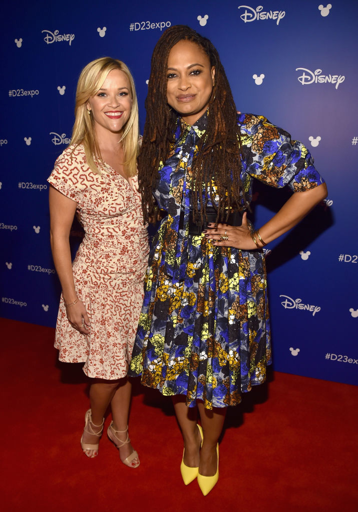 Reese Witherspoon and Ava DuVernay attend the Walt Disney Studios live action presentation at Disney's D23 EXPO 2017 in Anaheim, Calif., on July 17, 2017.